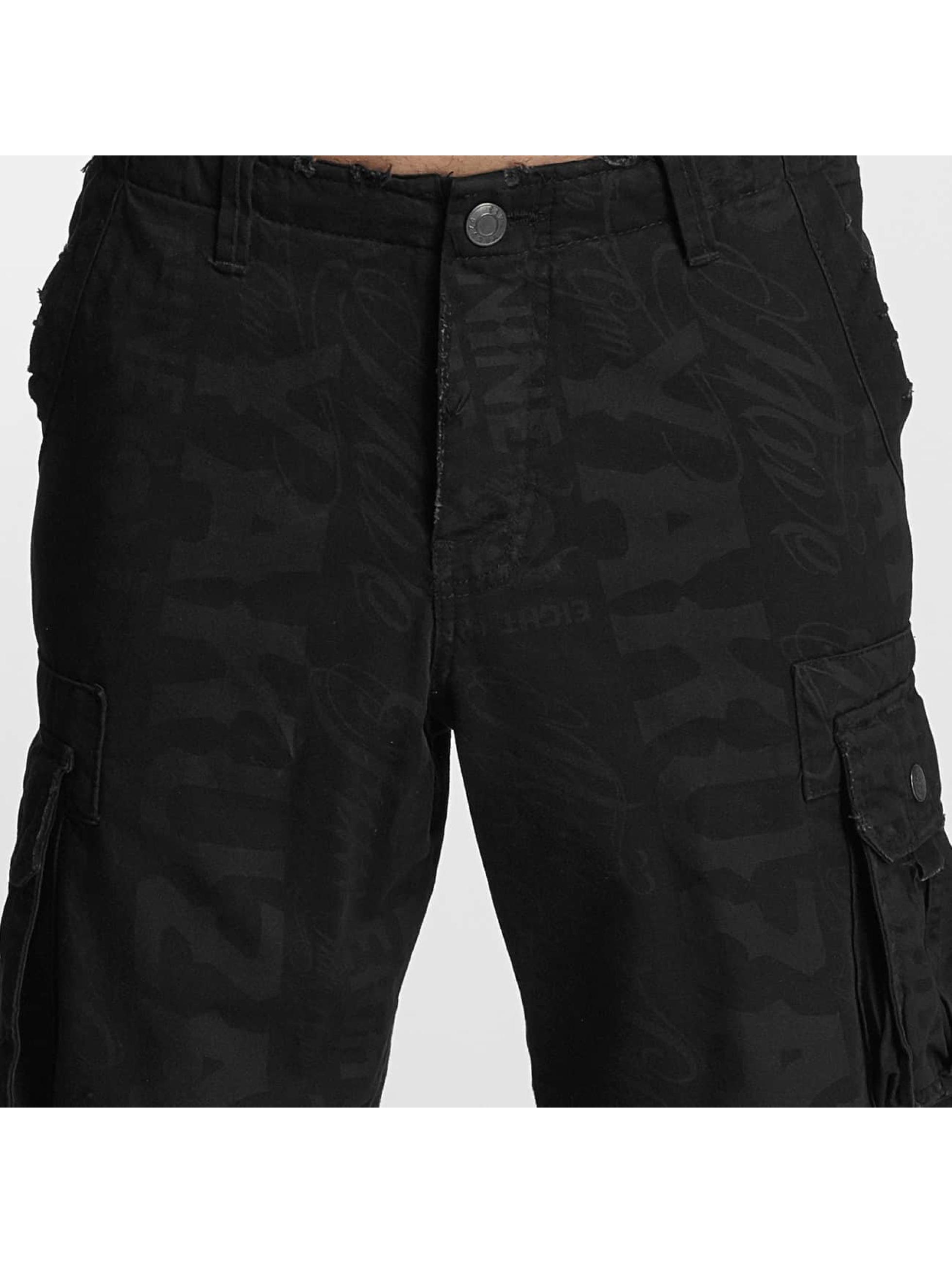 Yakuza Shorts Allover svart