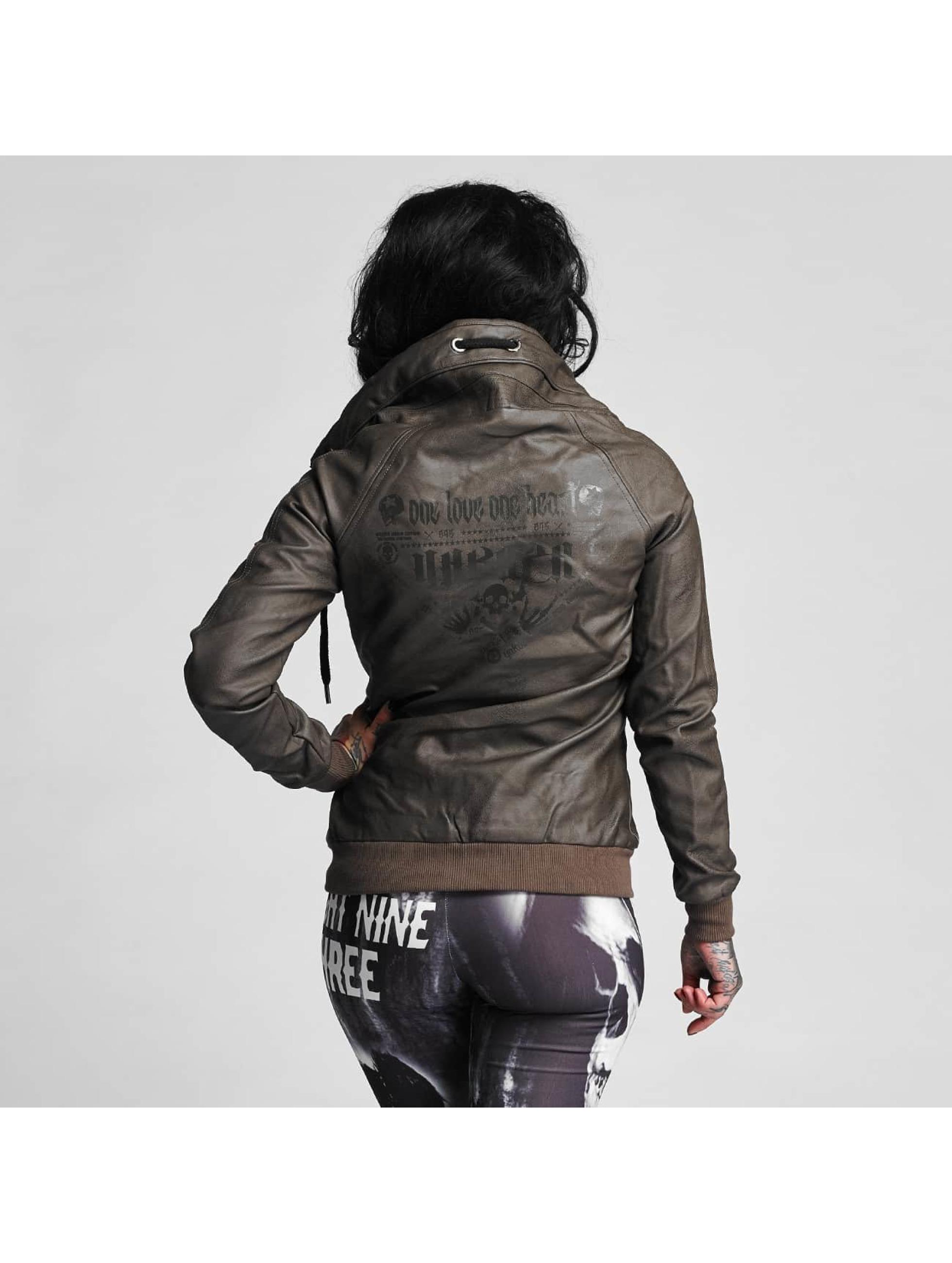 Yakuza Skinnjackor One Love Faux Leather brun