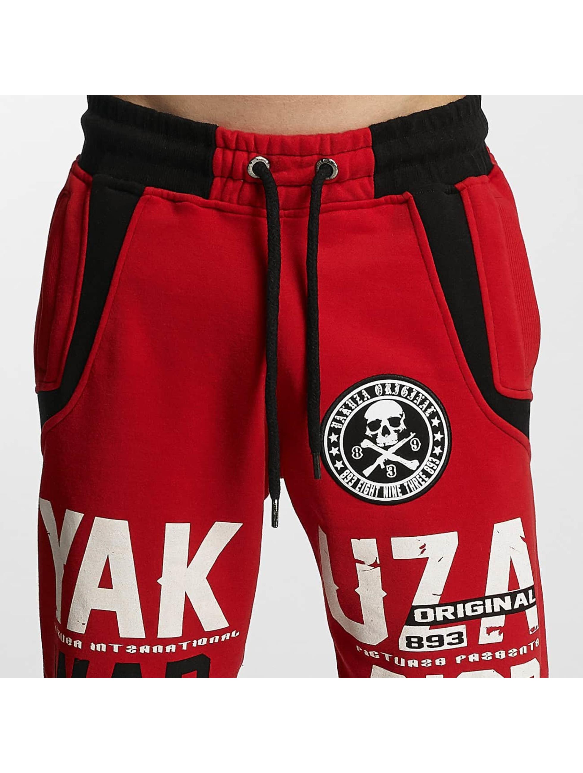 Yakuza Spodnie do joggingu Warrior czerwony