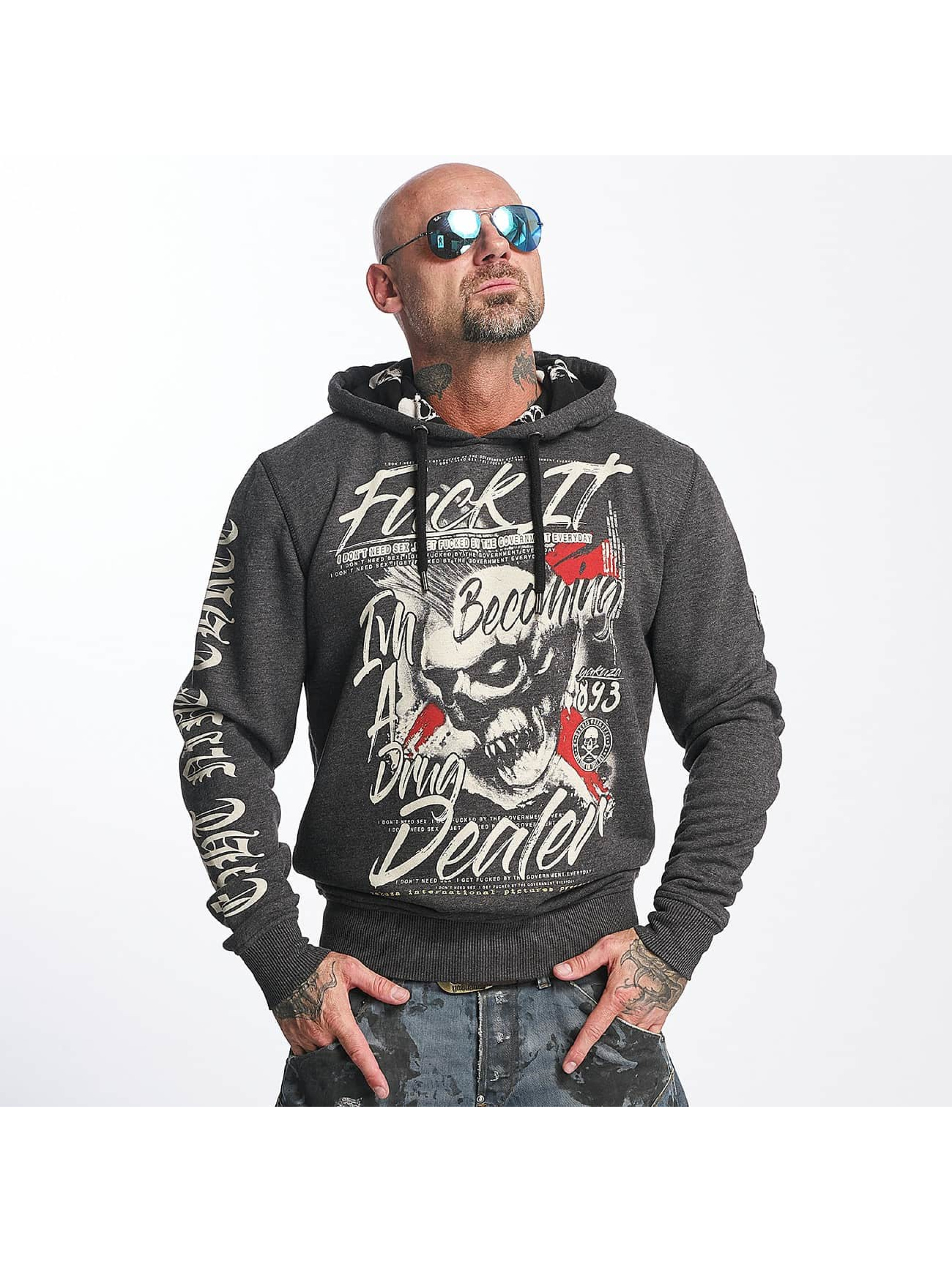 Yakuza Sweat capuche Drug Dealer gris
