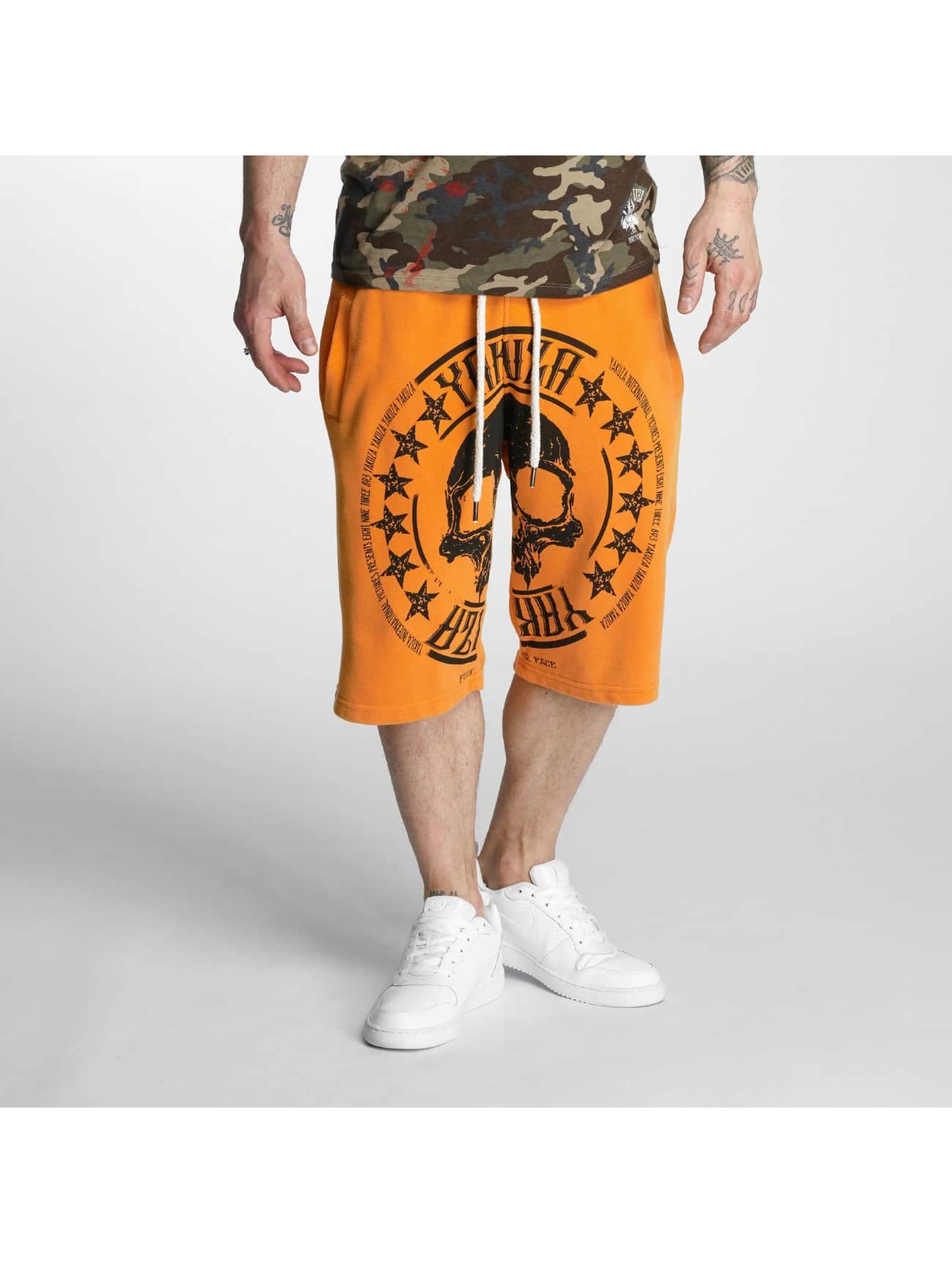 Yakuza Szorty Skull Label Sweat pomaranczowy