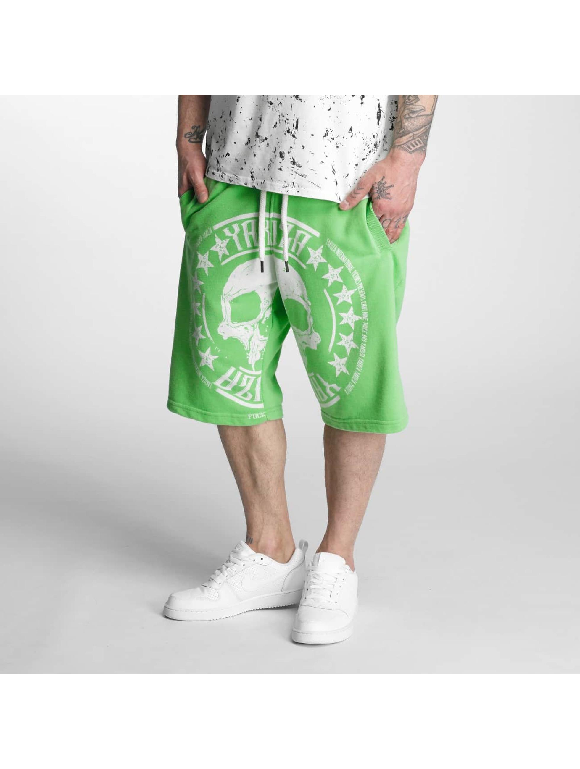 Yakuza Szorty Skull Label zielony