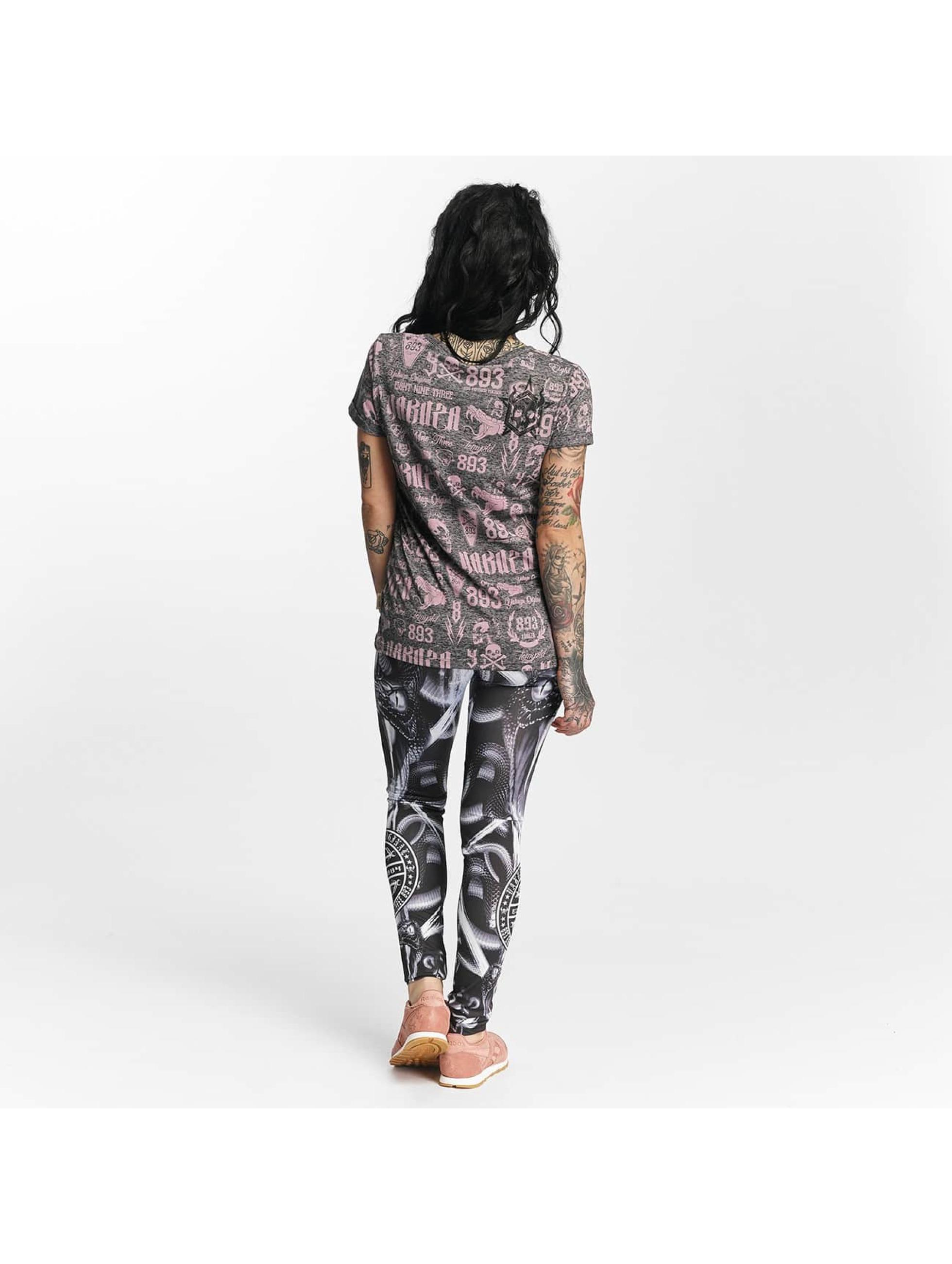 Yakuza T-paidat Allover Label Boyfriend harmaa