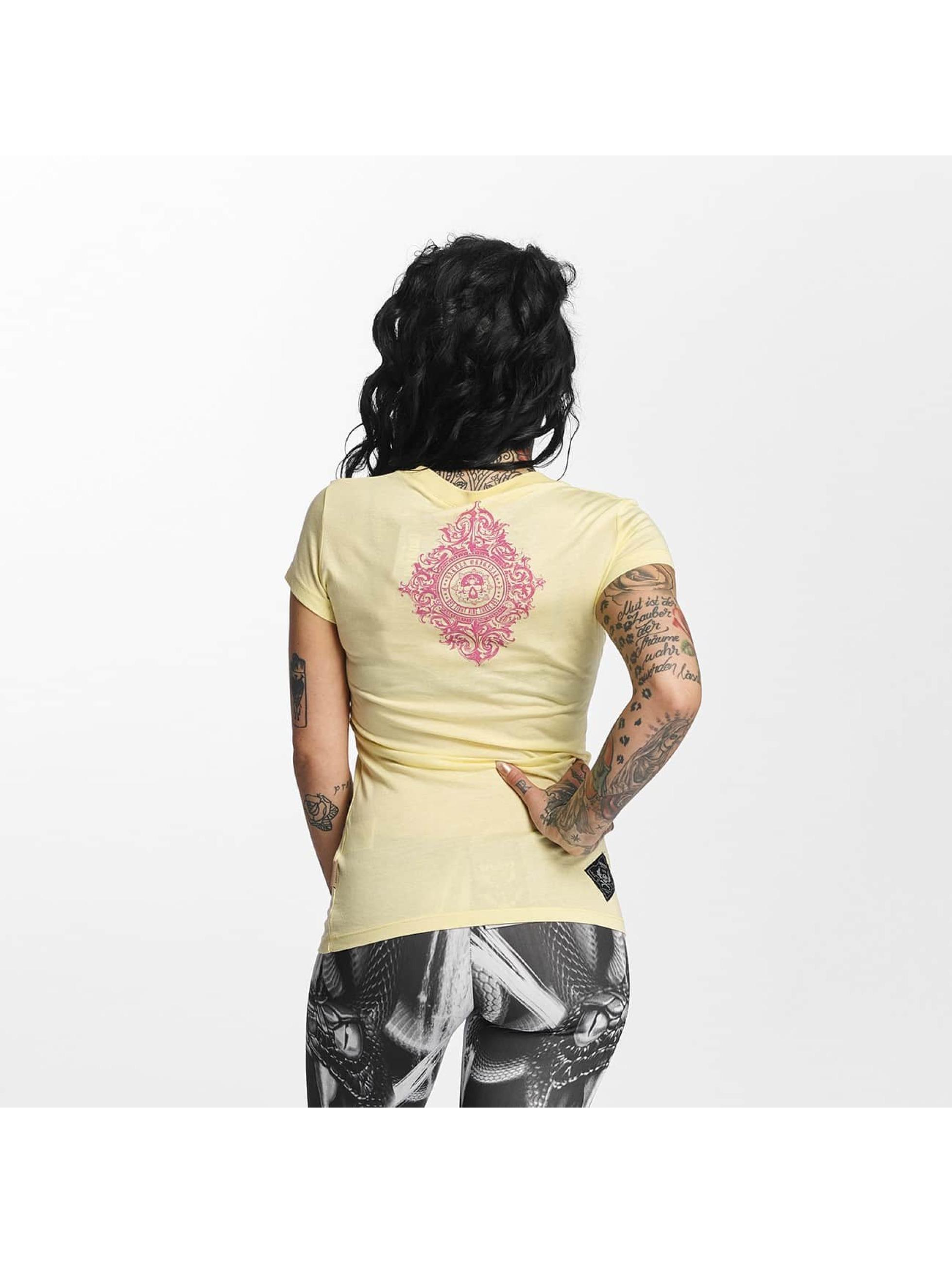 Yakuza T-paidat Daily Skull keltainen