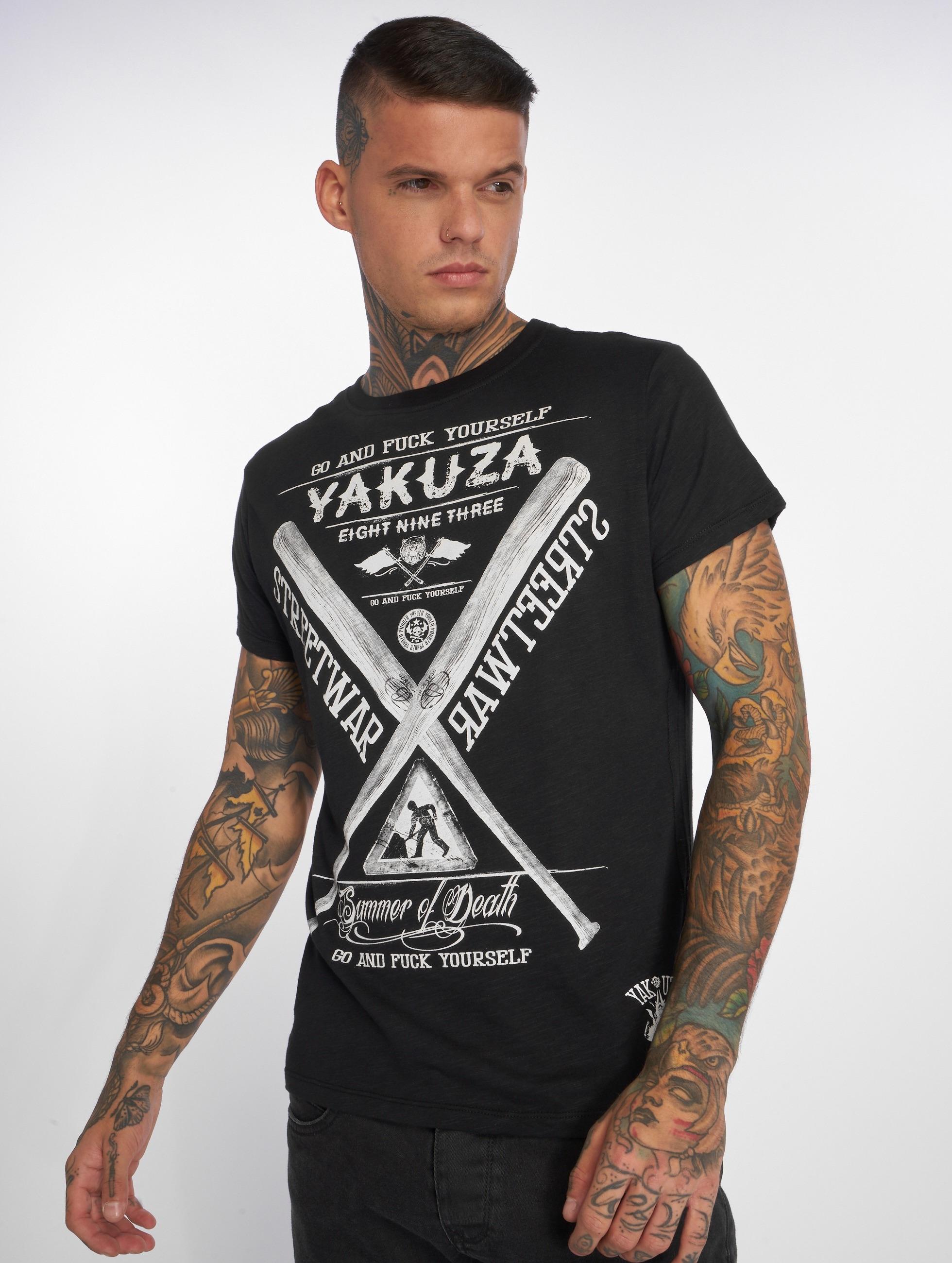 Yakuza T-paidat Streetwar musta