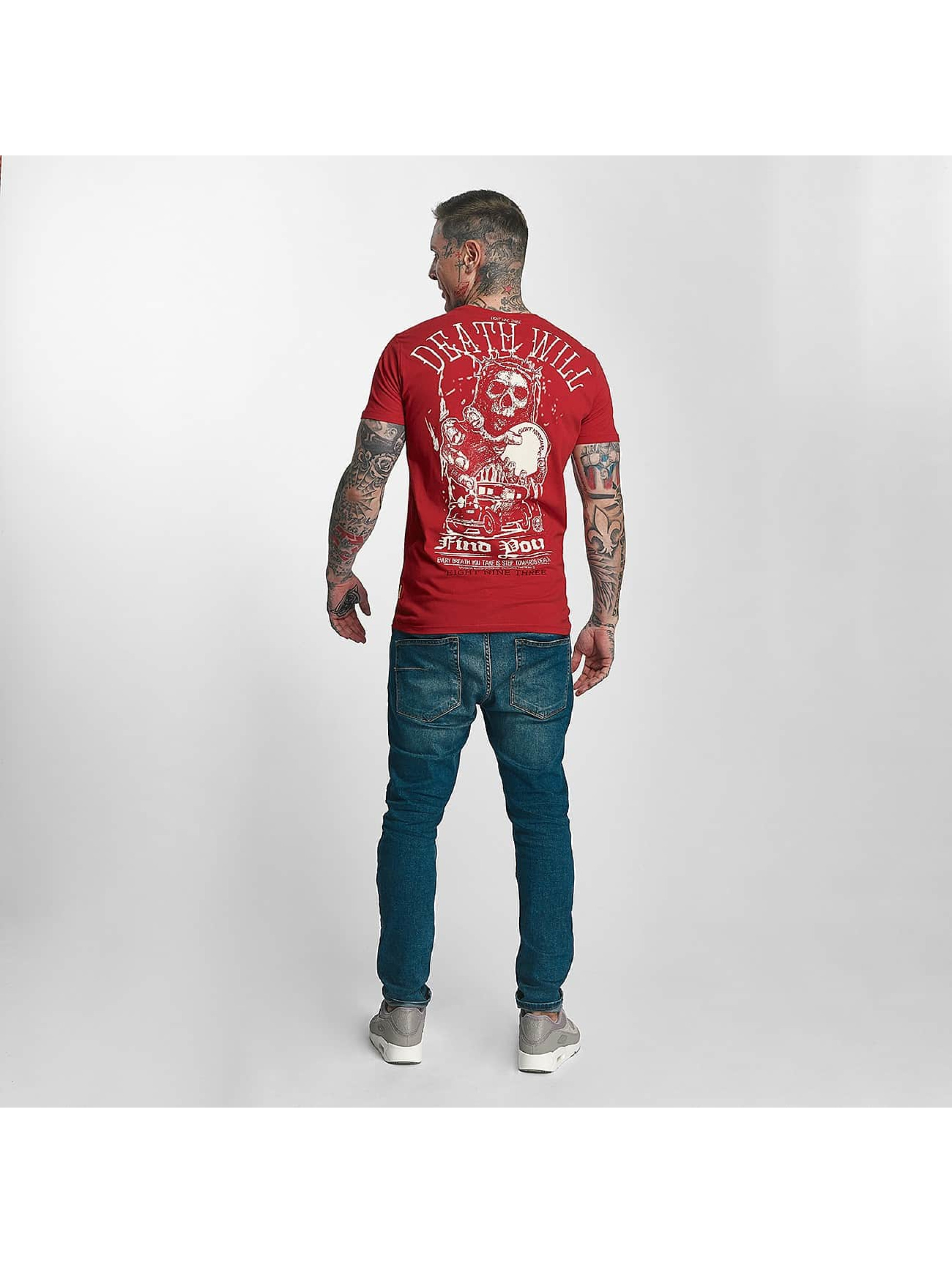 Yakuza T-paidat Death Will Find You punainen