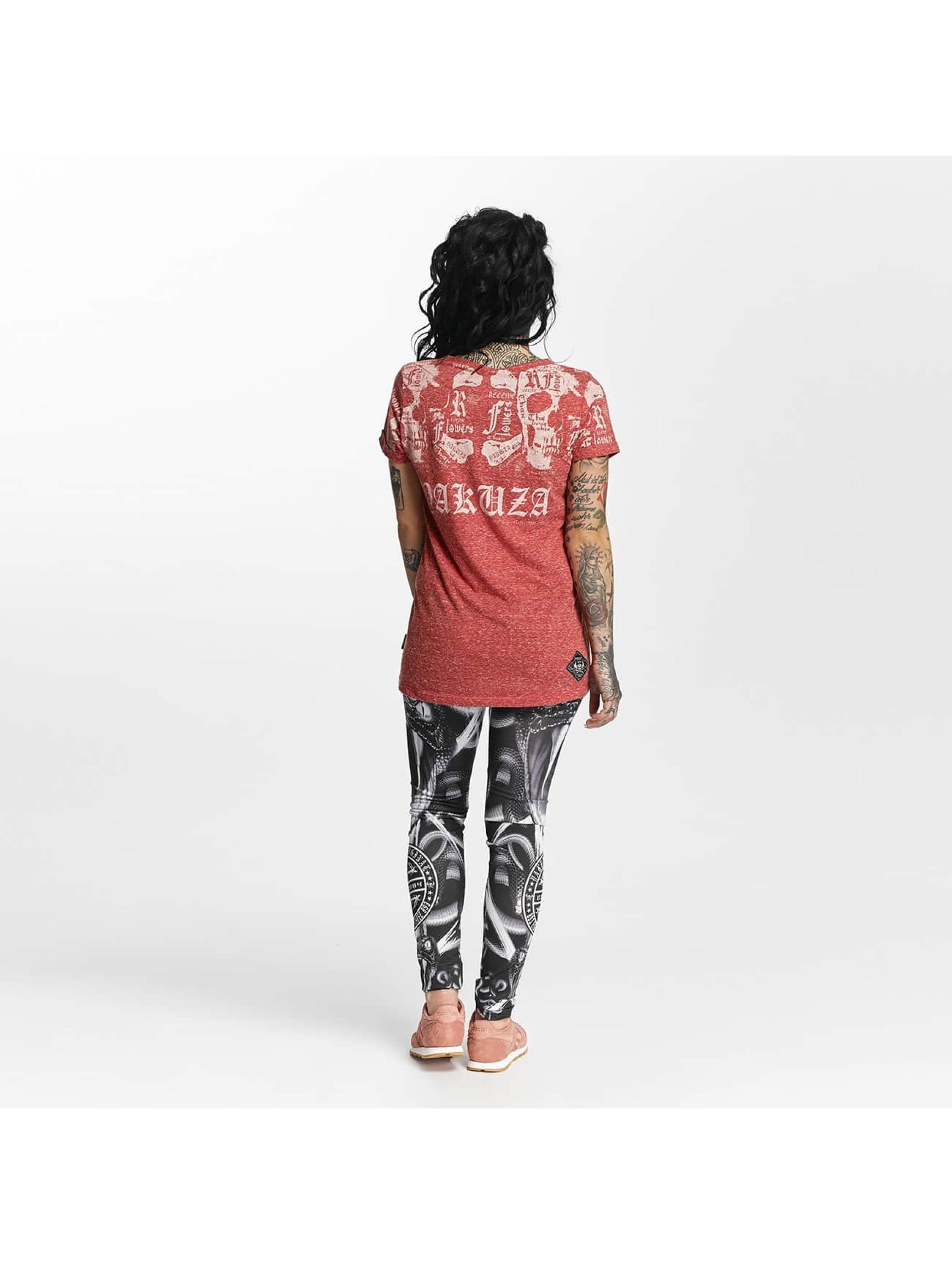 Yakuza T-paidat Skull Script Boyfriend punainen