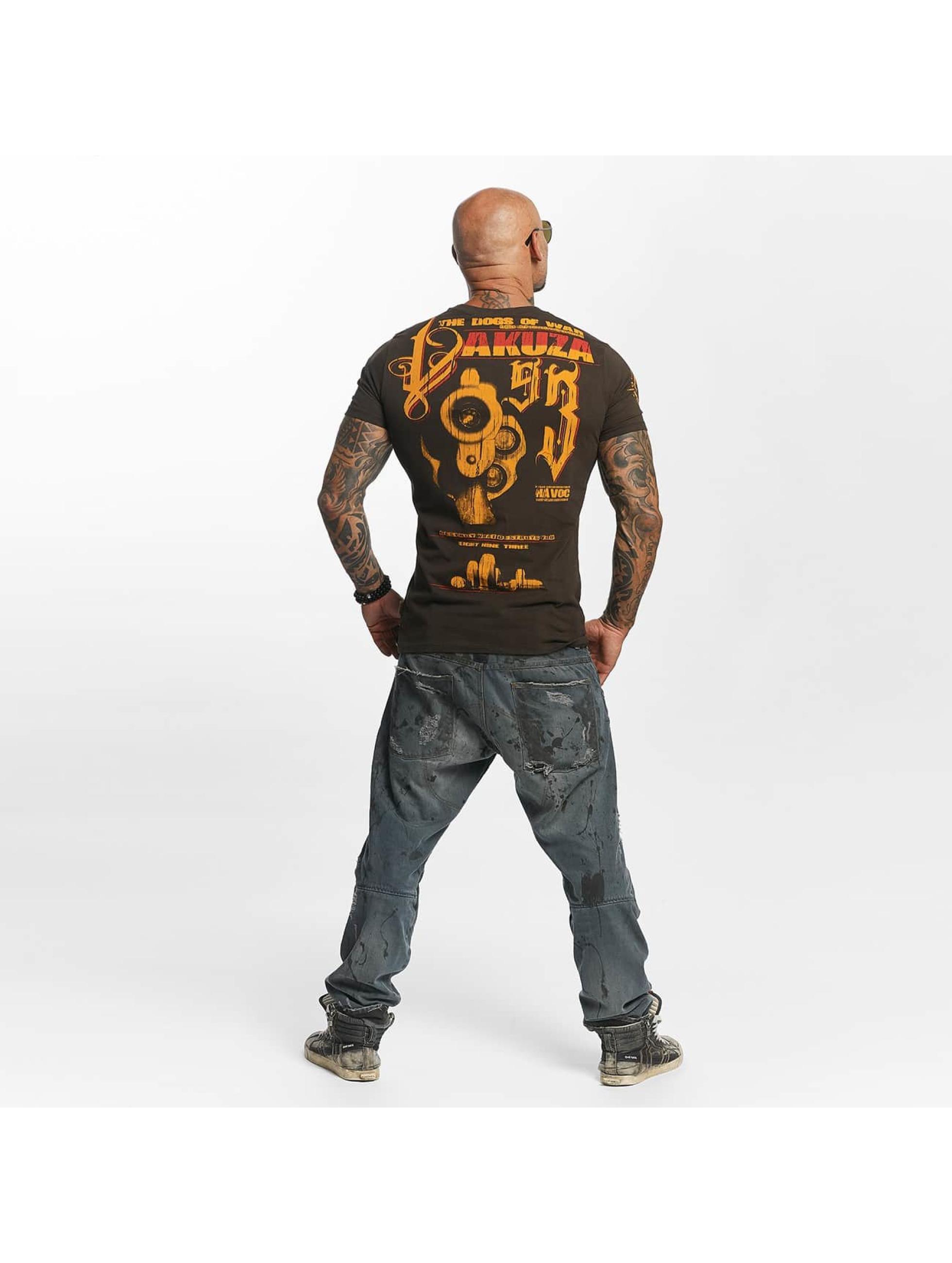 Yakuza T-paidat Havoc ruskea