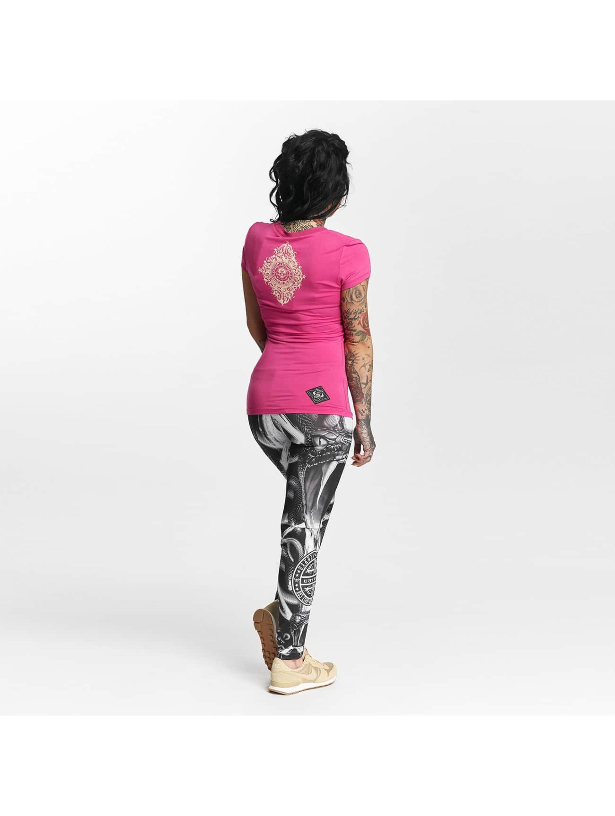 Yakuza T-paidat Daily Skull vaaleanpunainen