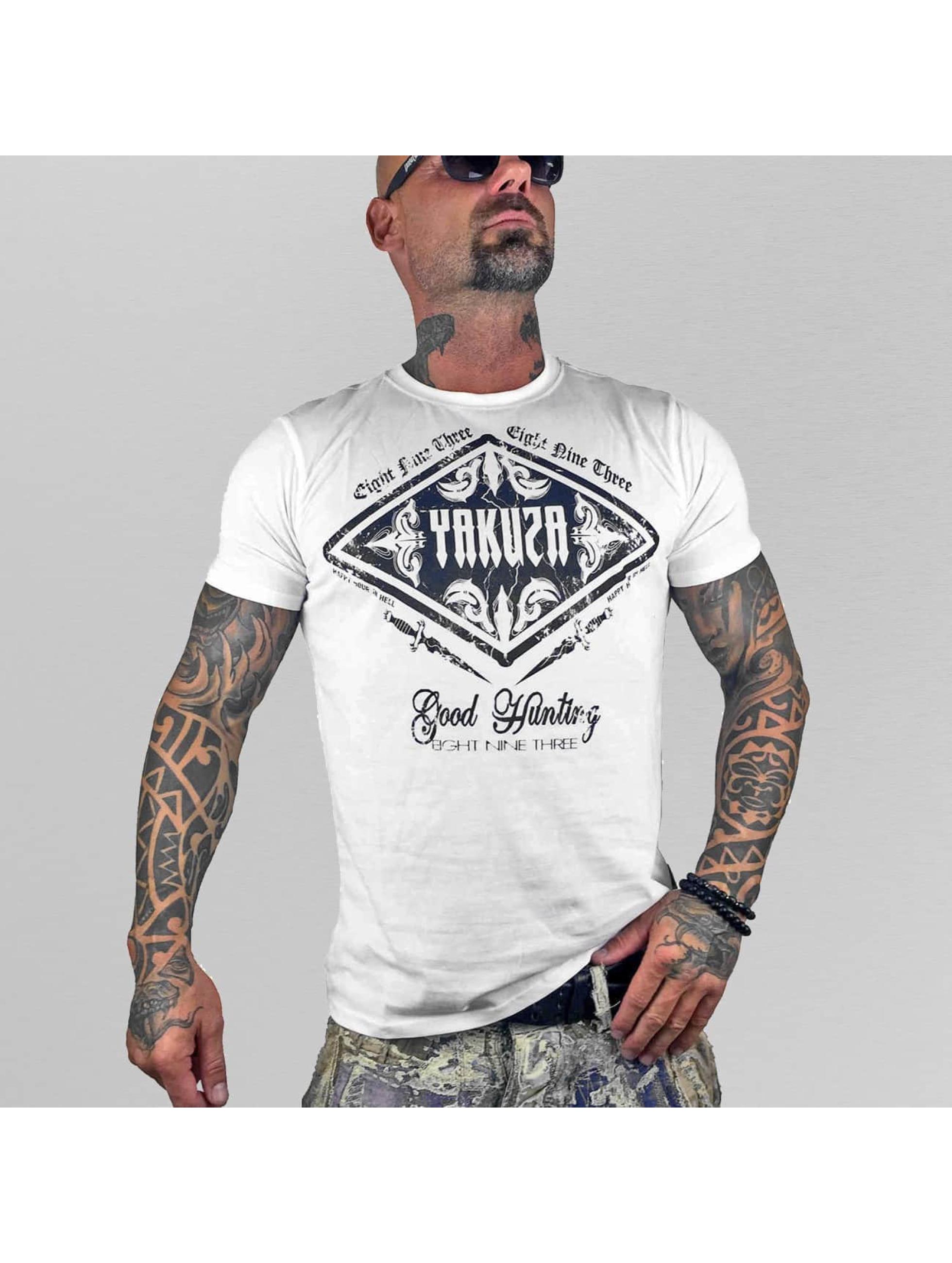 Yakuza T-paidat Good Hunting valkoinen