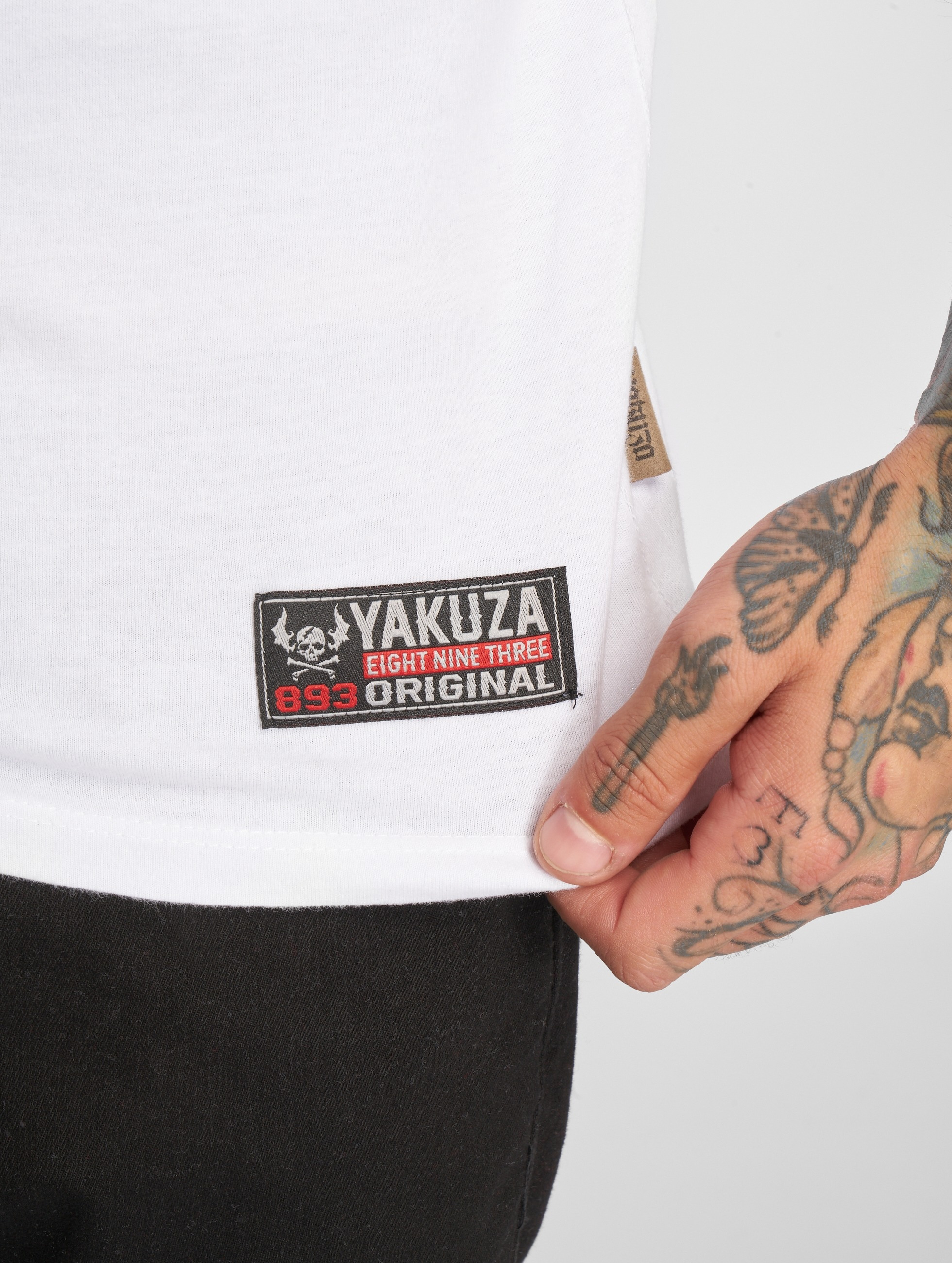 Yakuza T-paidat Helmet Skull valkoinen