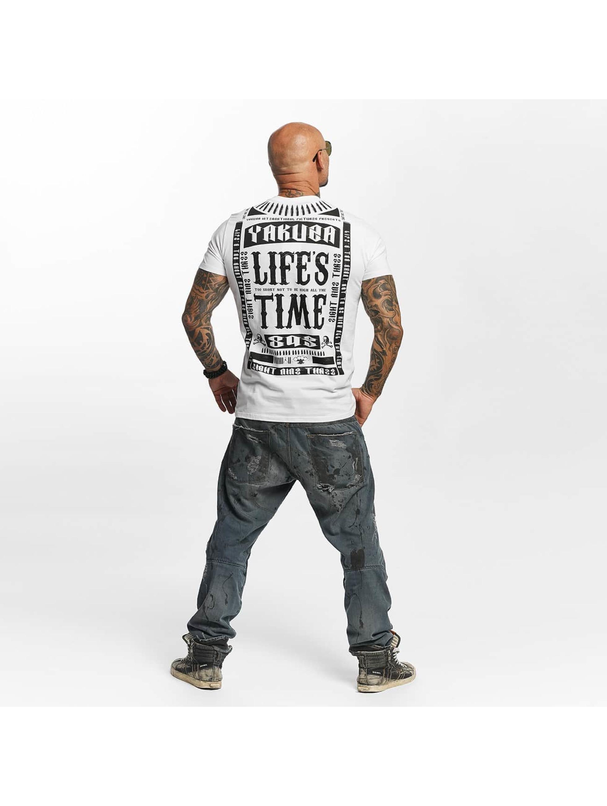 Yakuza T-paidat Life Time valkoinen