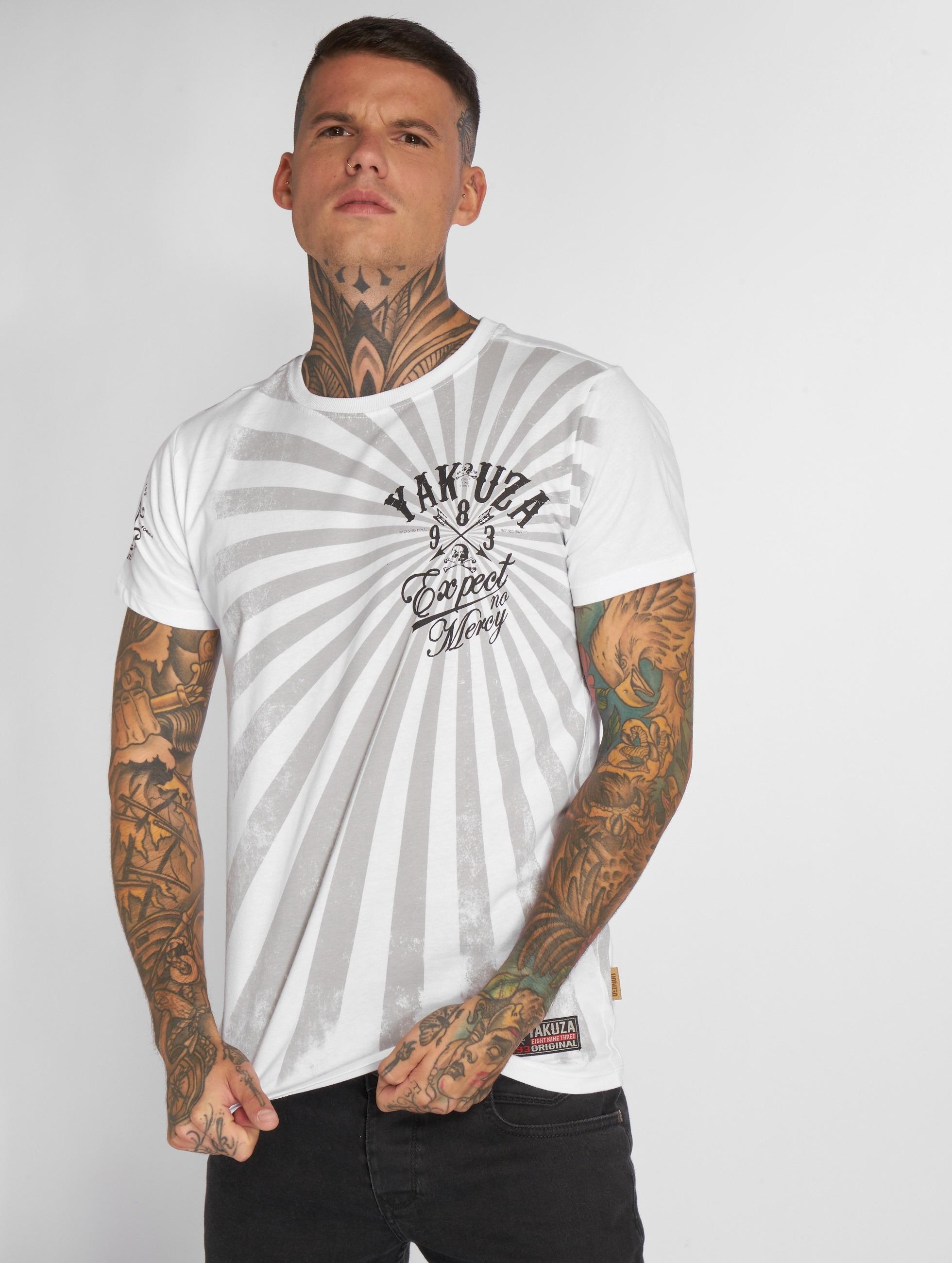 Yakuza T-paidat Expect No valkoinen