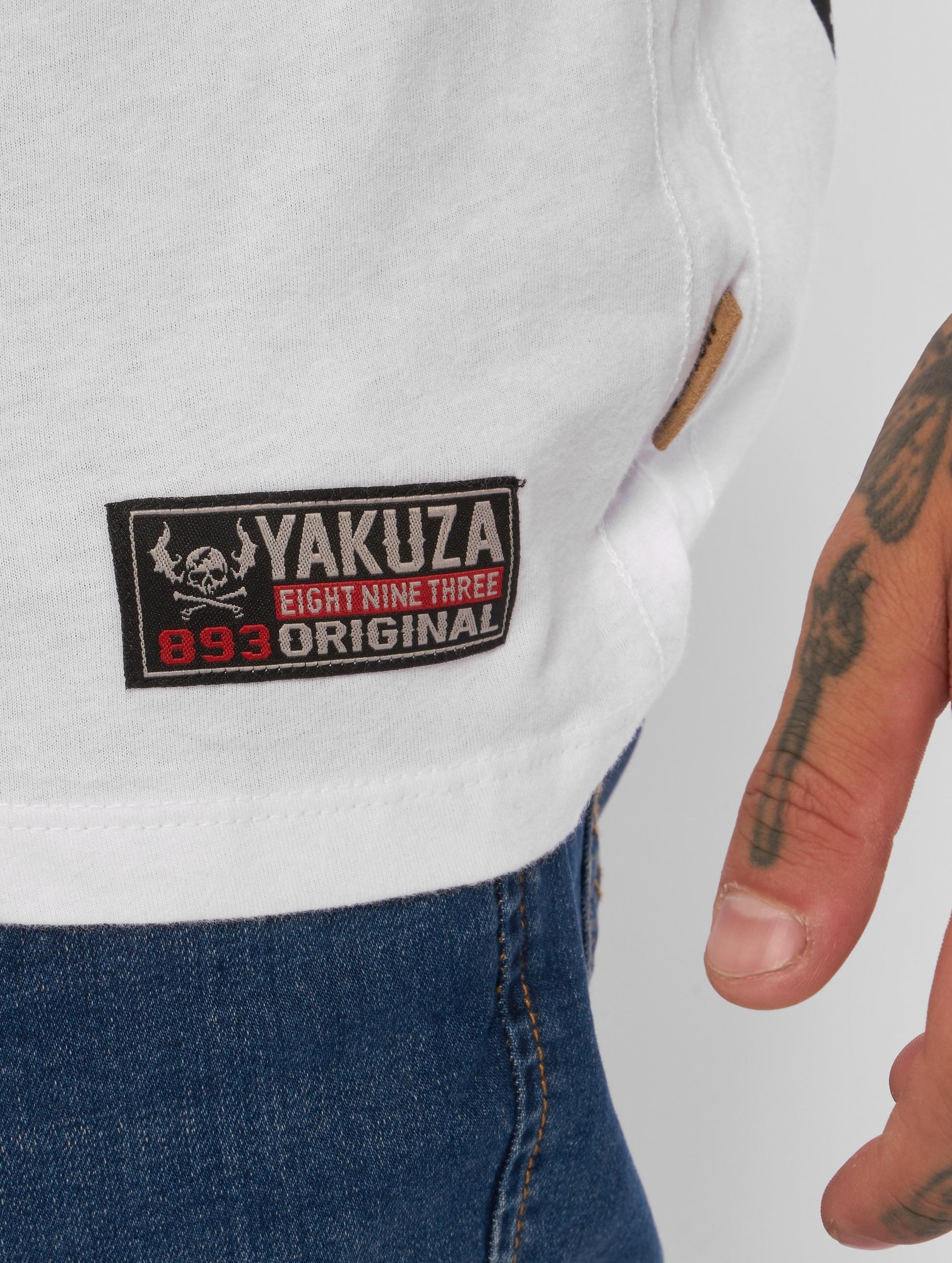 Yakuza T-paidat Love Hate valkoinen