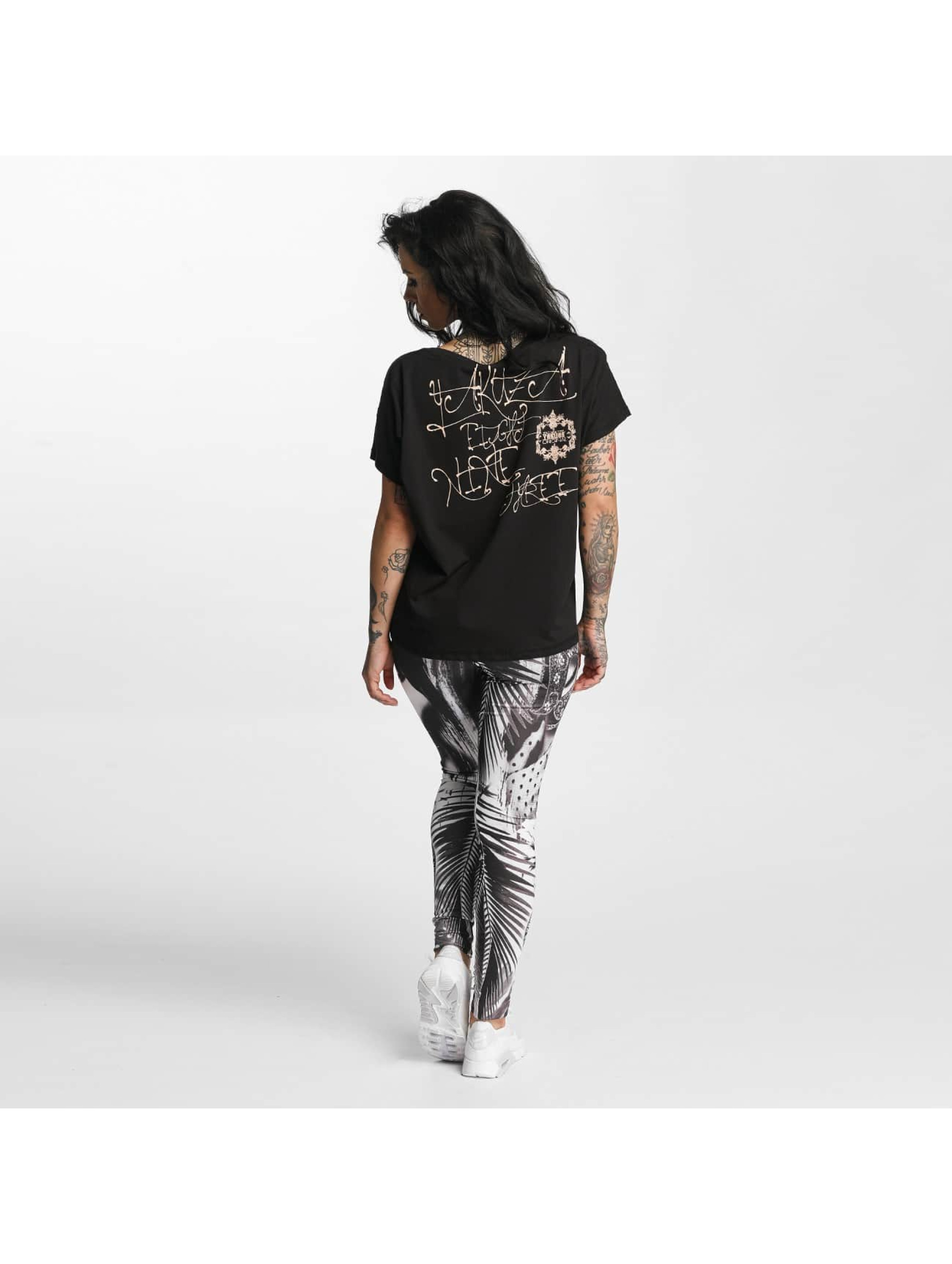 Yakuza T-Shirt Dead Swan Cropped black