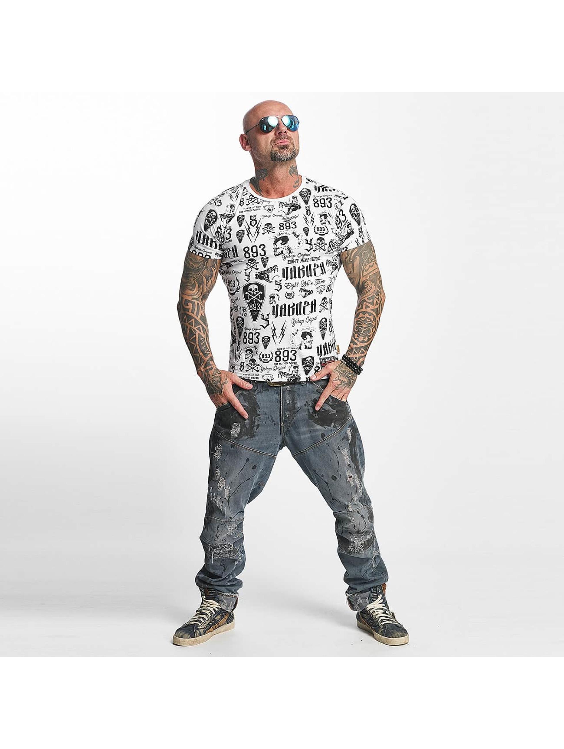 Yakuza T-Shirt Allover Label blanc