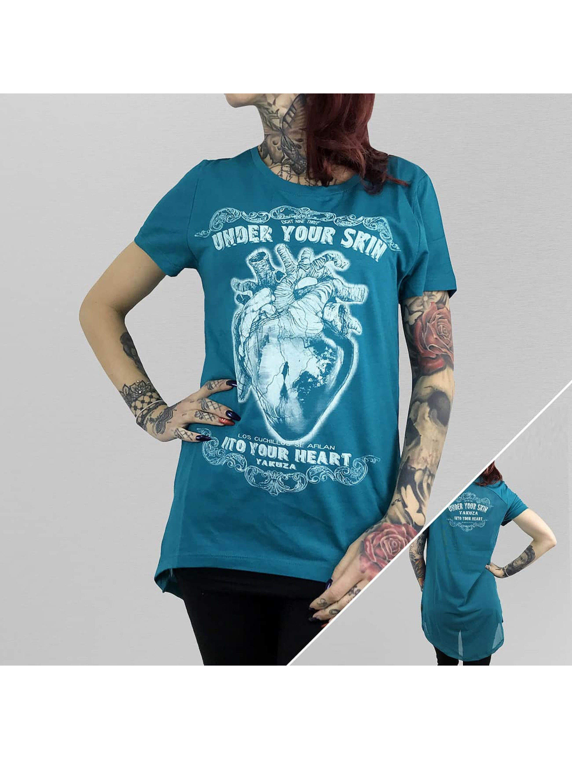 Yakuza T-Shirt Into Your Heart Limpid blue