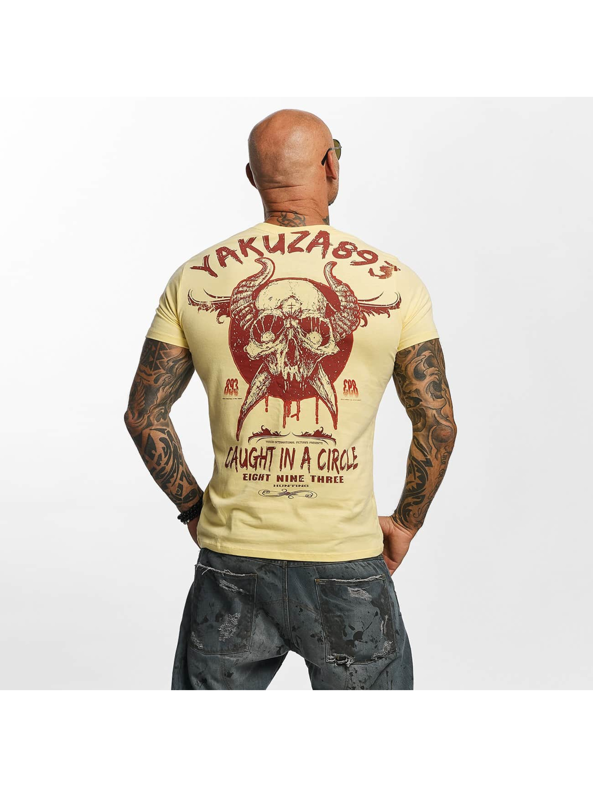 Yakuza T-Shirt Caught In A Circle gelb
