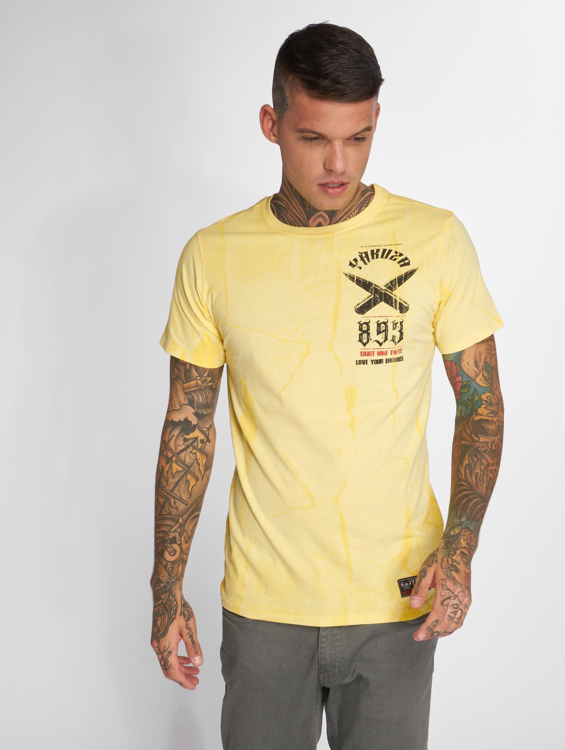 Yakuza T-shirt Blaze N Glory giallo