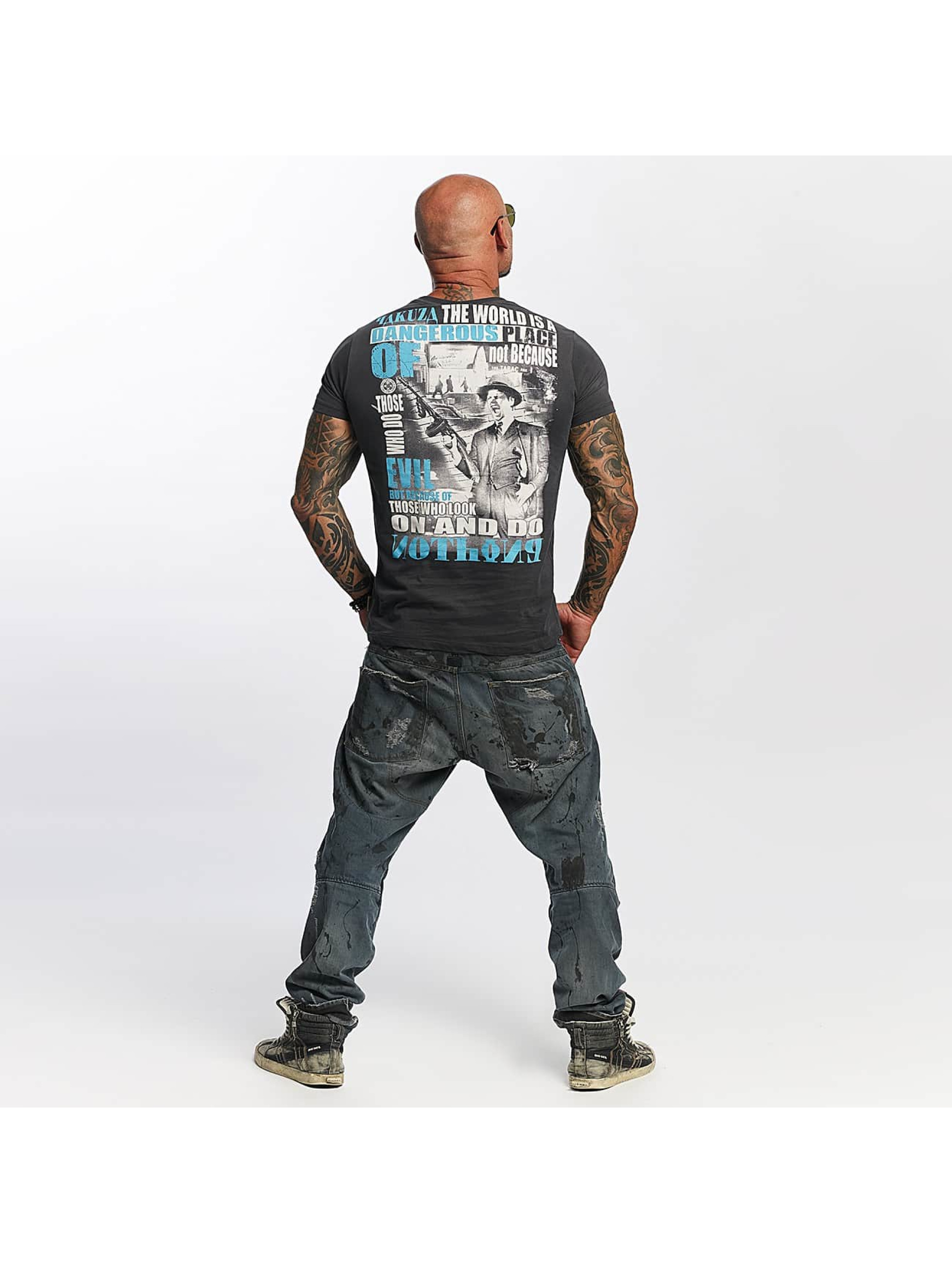 Yakuza T-Shirt Dangerous Place gray