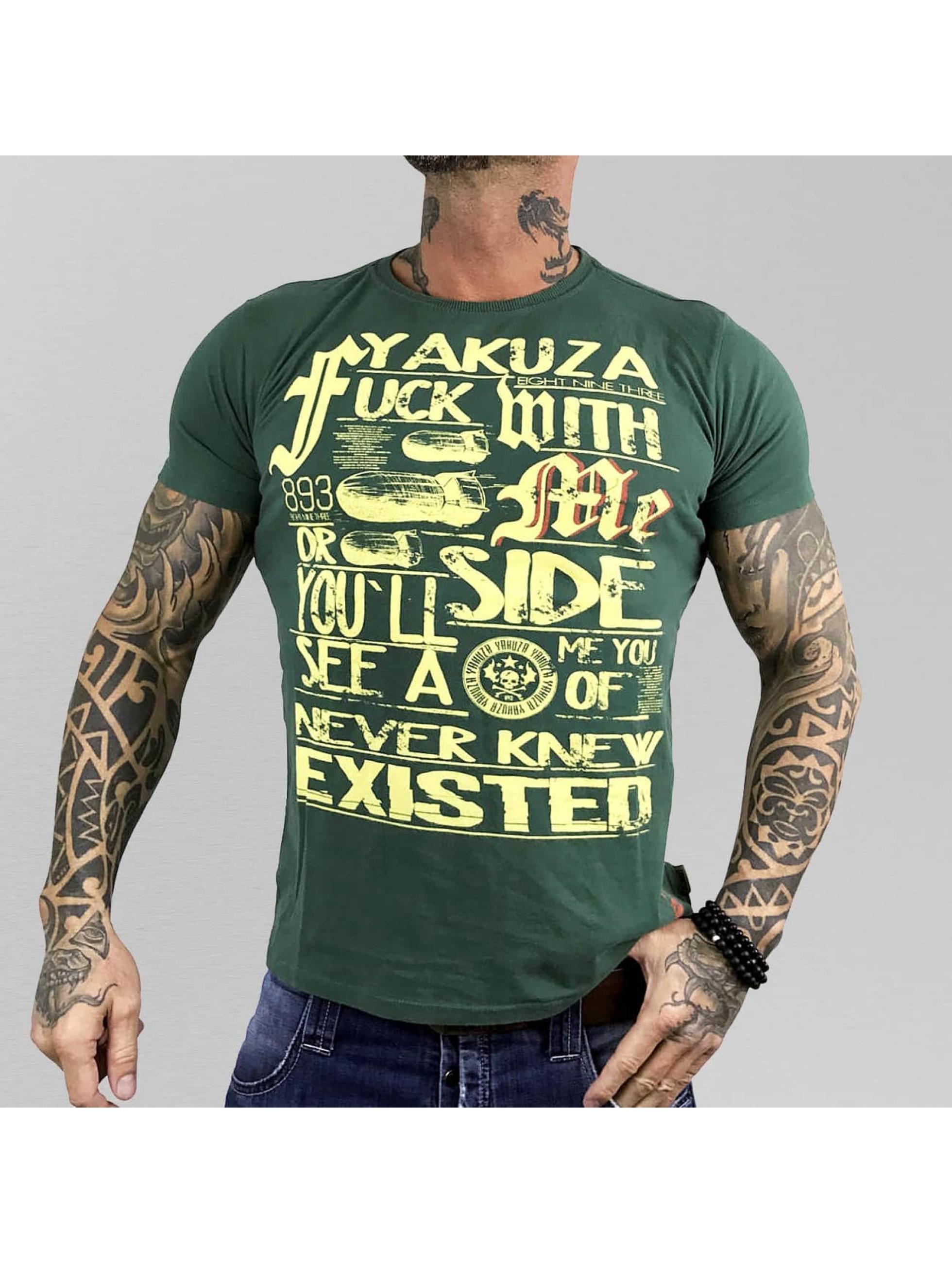 Yakuza T-Shirt Fxck With Me green