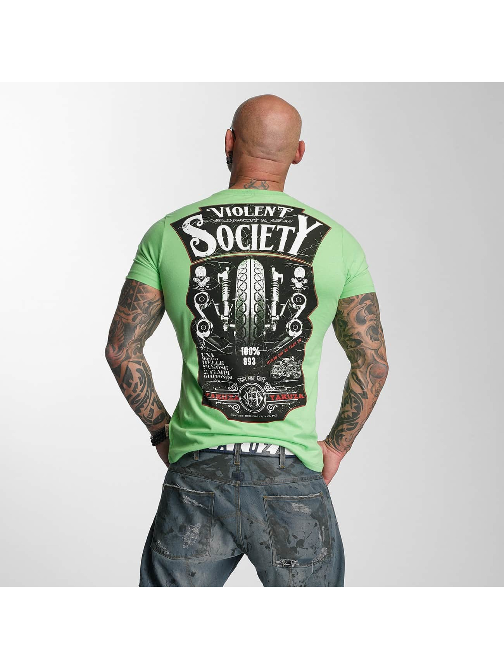 Yakuza T-Shirt Violent Society green