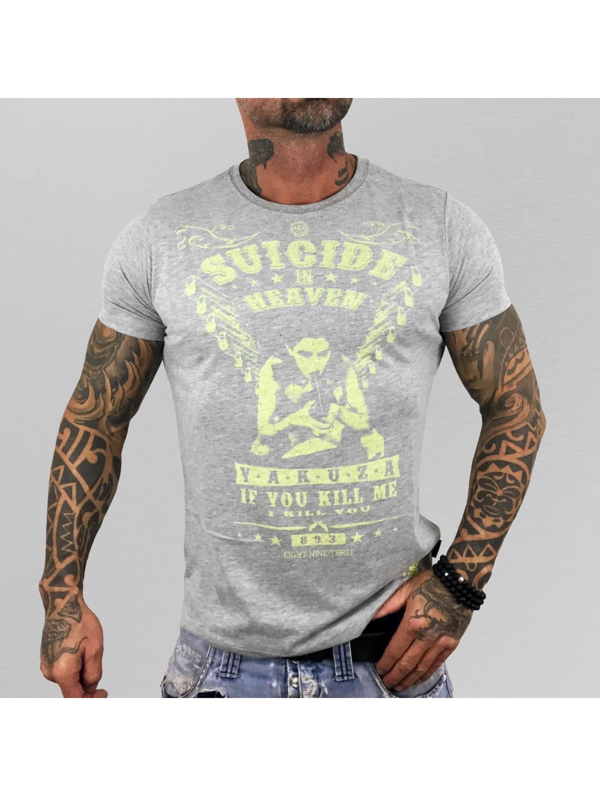 Yakuza T-Shirt Suicide In Heaven grey
