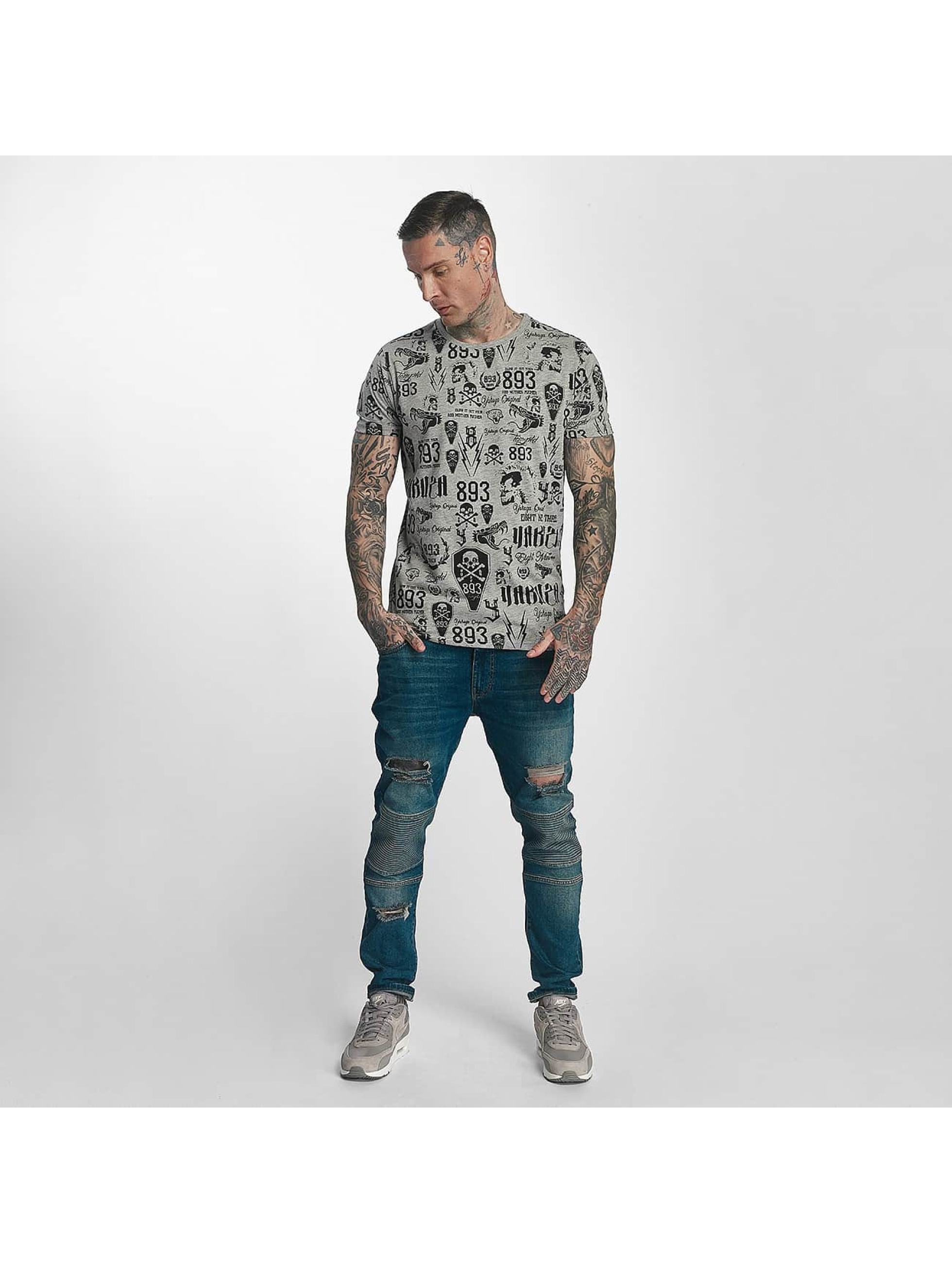 Yakuza T-Shirt Allover Label gris