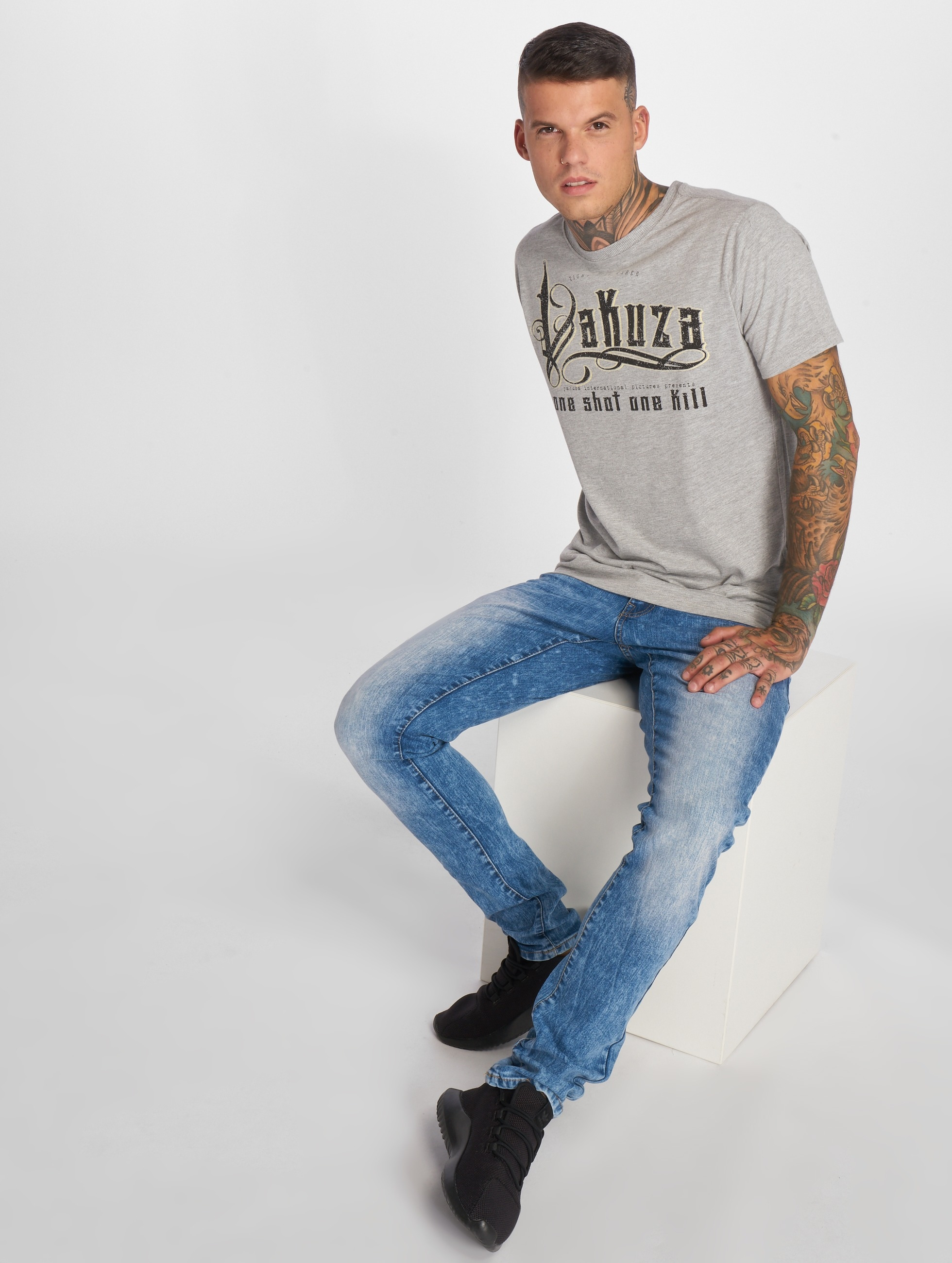 Yakuza T-Shirt One Shot gris