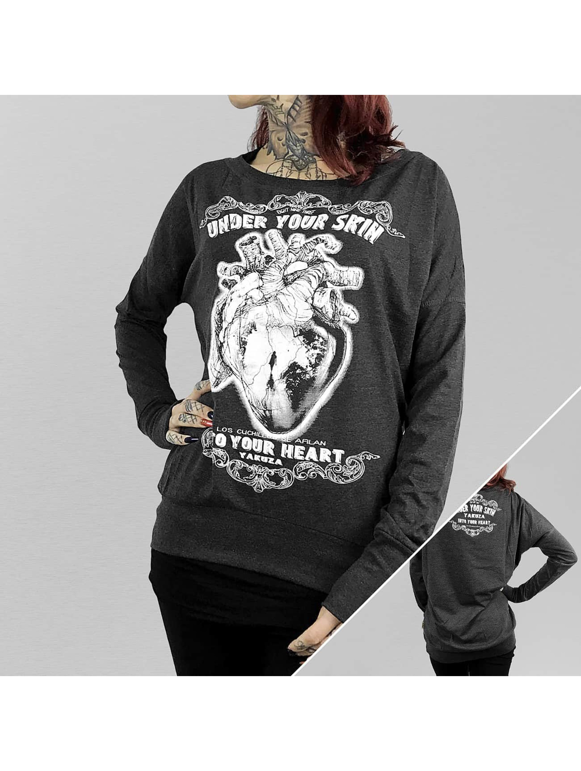 Yakuza T-Shirt manches longues Into Your Heart Wide Crew noir