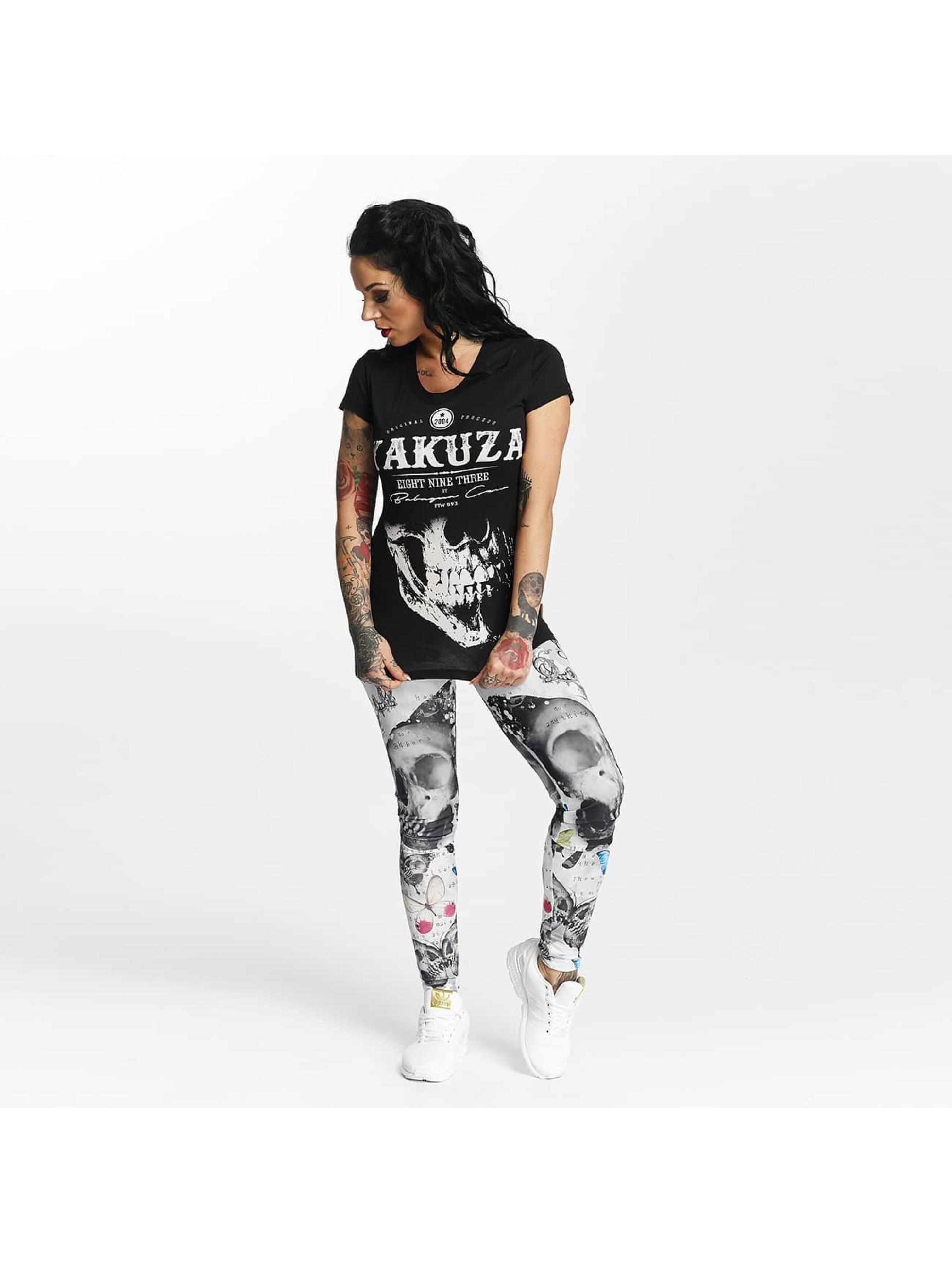 Yakuza T-shirt Daily Skull nero