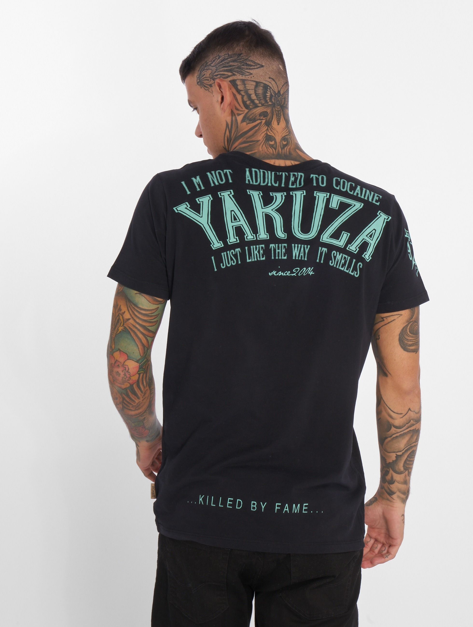 Yakuza T-shirt Addicted nero