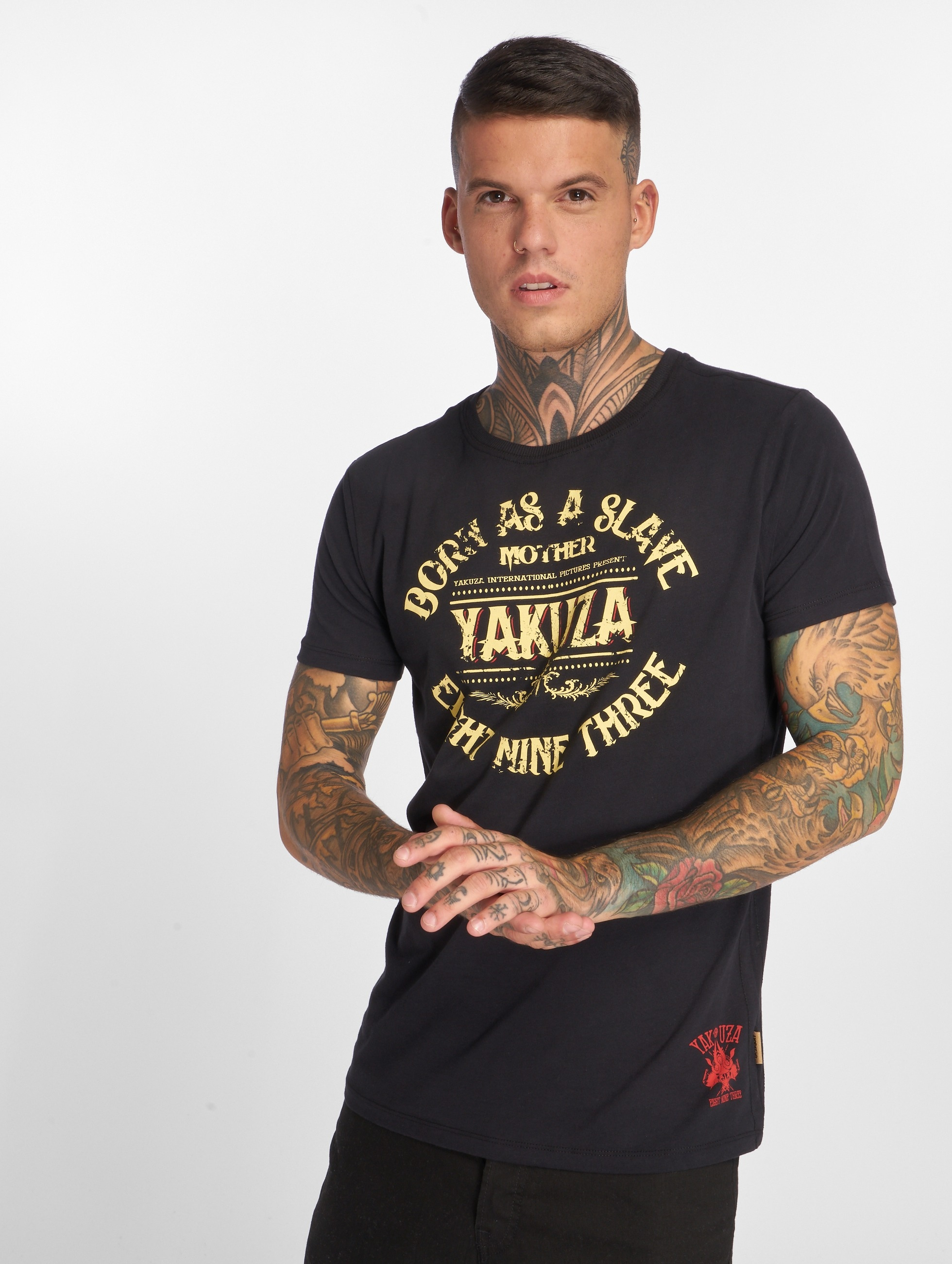 Yakuza T-Shirt Born As A Slave noir