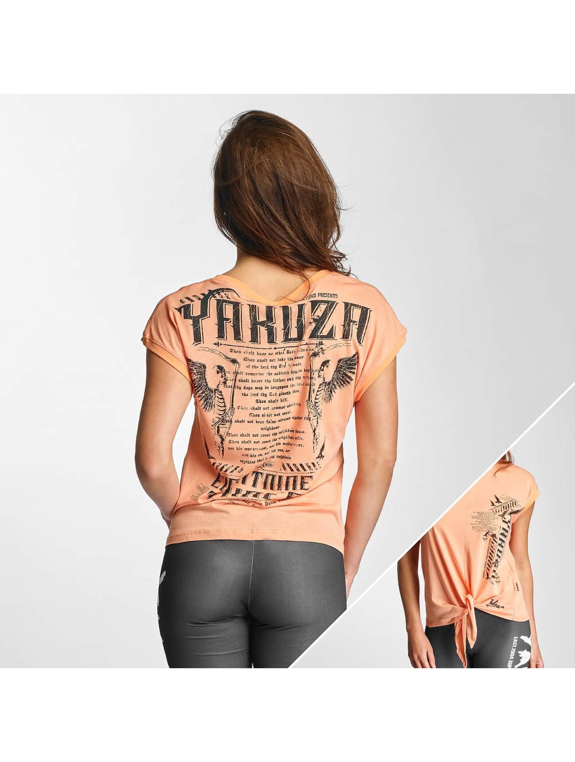 Yakuza T-Shirt Commandments Knot orange