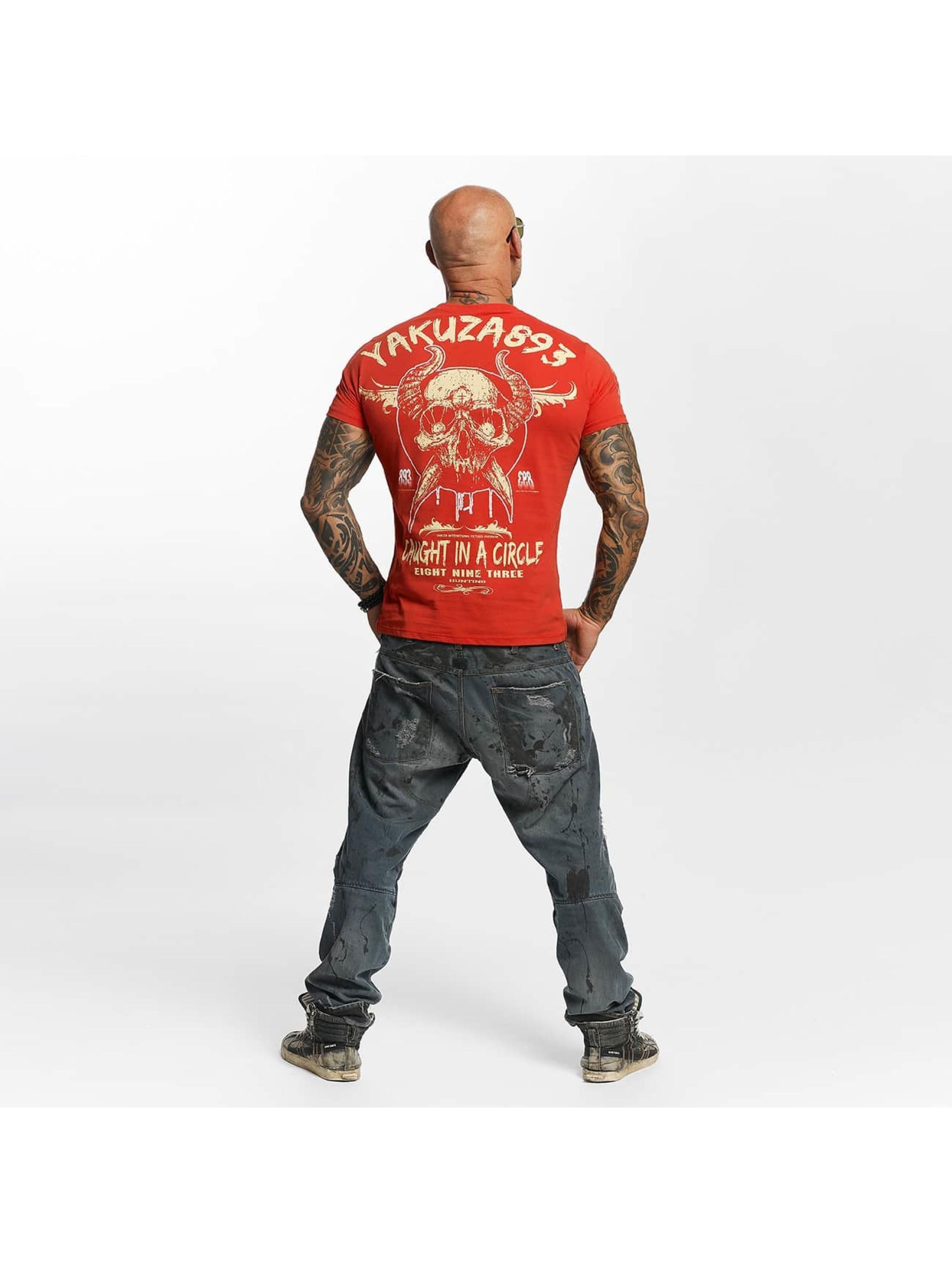 Yakuza T-Shirt Caught In A Circle red