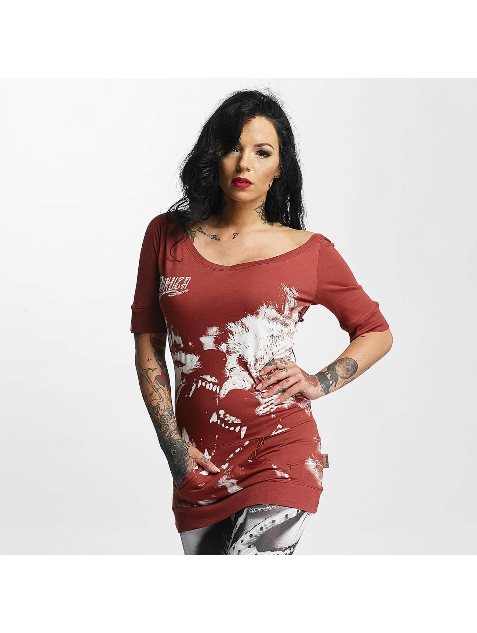 Yakuza T-Shirt Wolf Hooded red