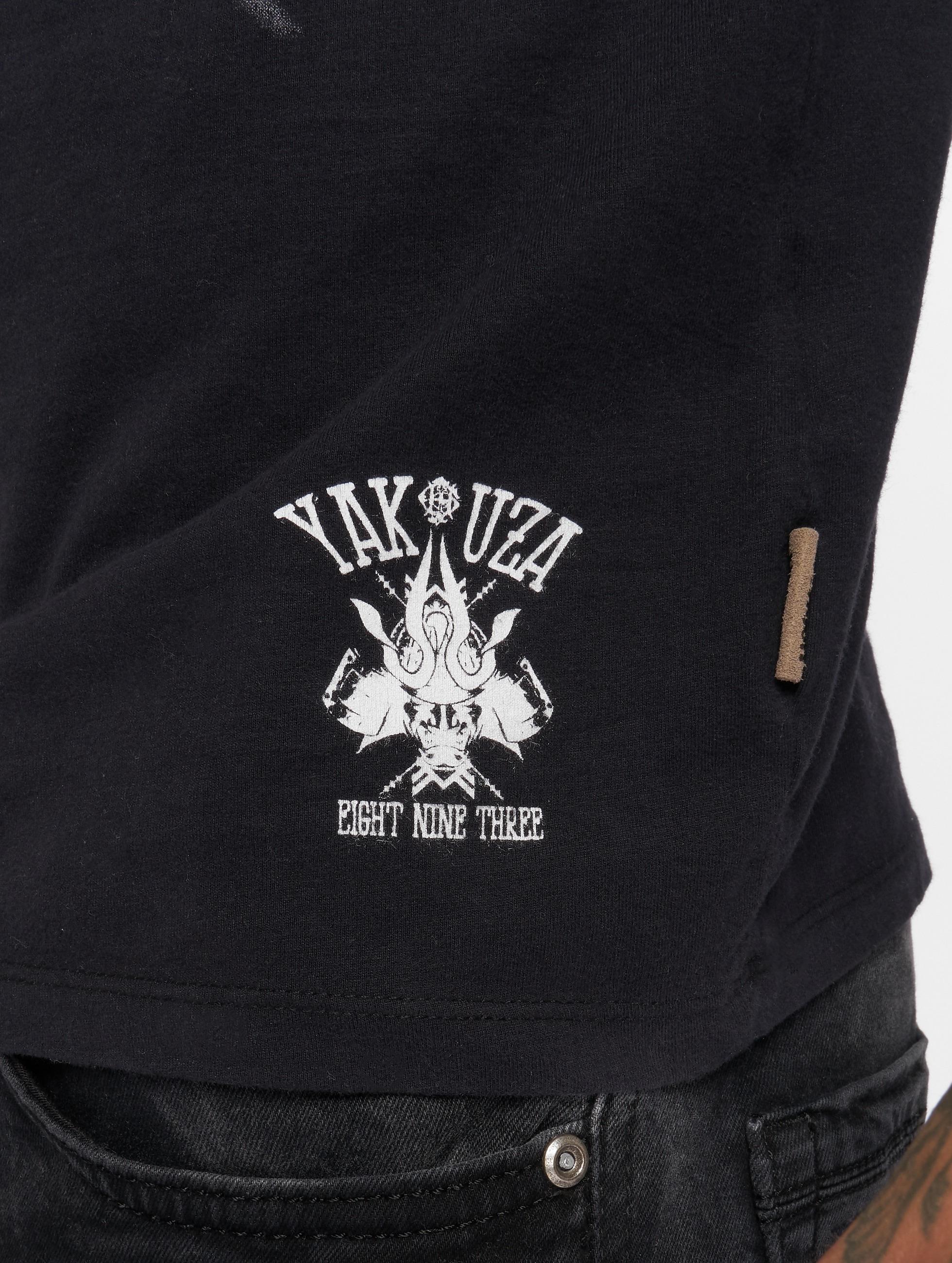 yakuza herren t shirt crow in schwarz 137969. Black Bedroom Furniture Sets. Home Design Ideas