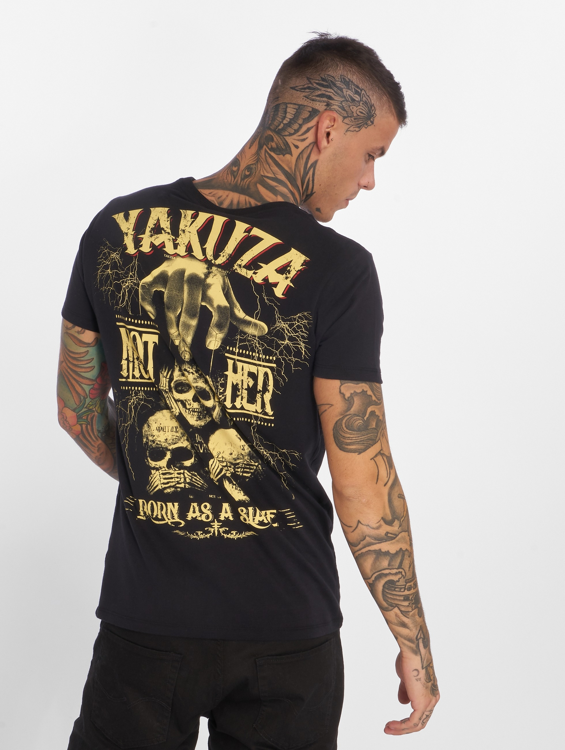 Yakuza T-Shirt Born As A Slave schwarz
