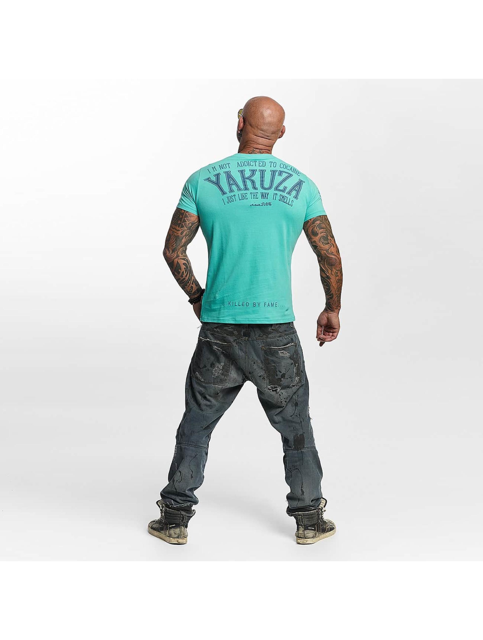 Yakuza T-shirt Addicted turchese
