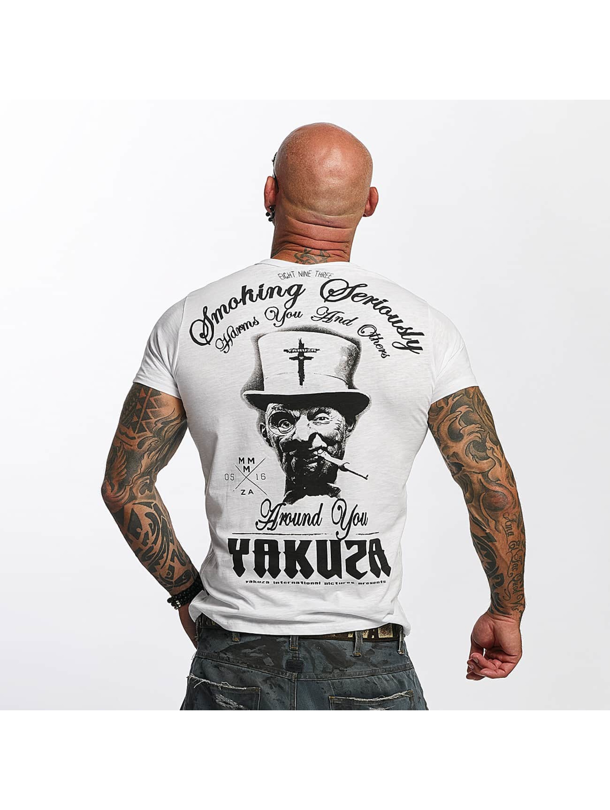 Yakuza T-Shirt Smoking Seriously weiß