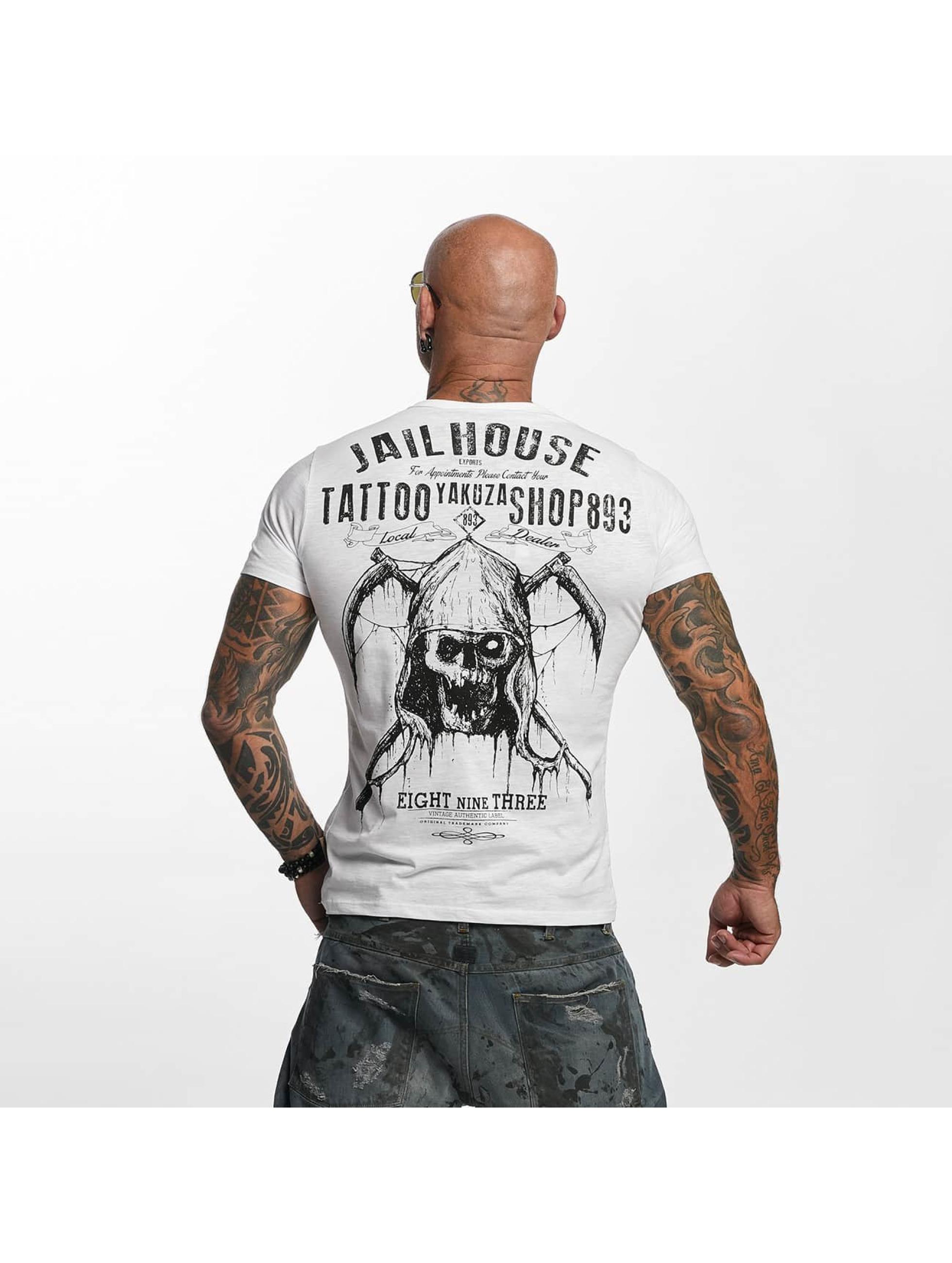 Yakuza T-Shirt Tattoo Shop weiß