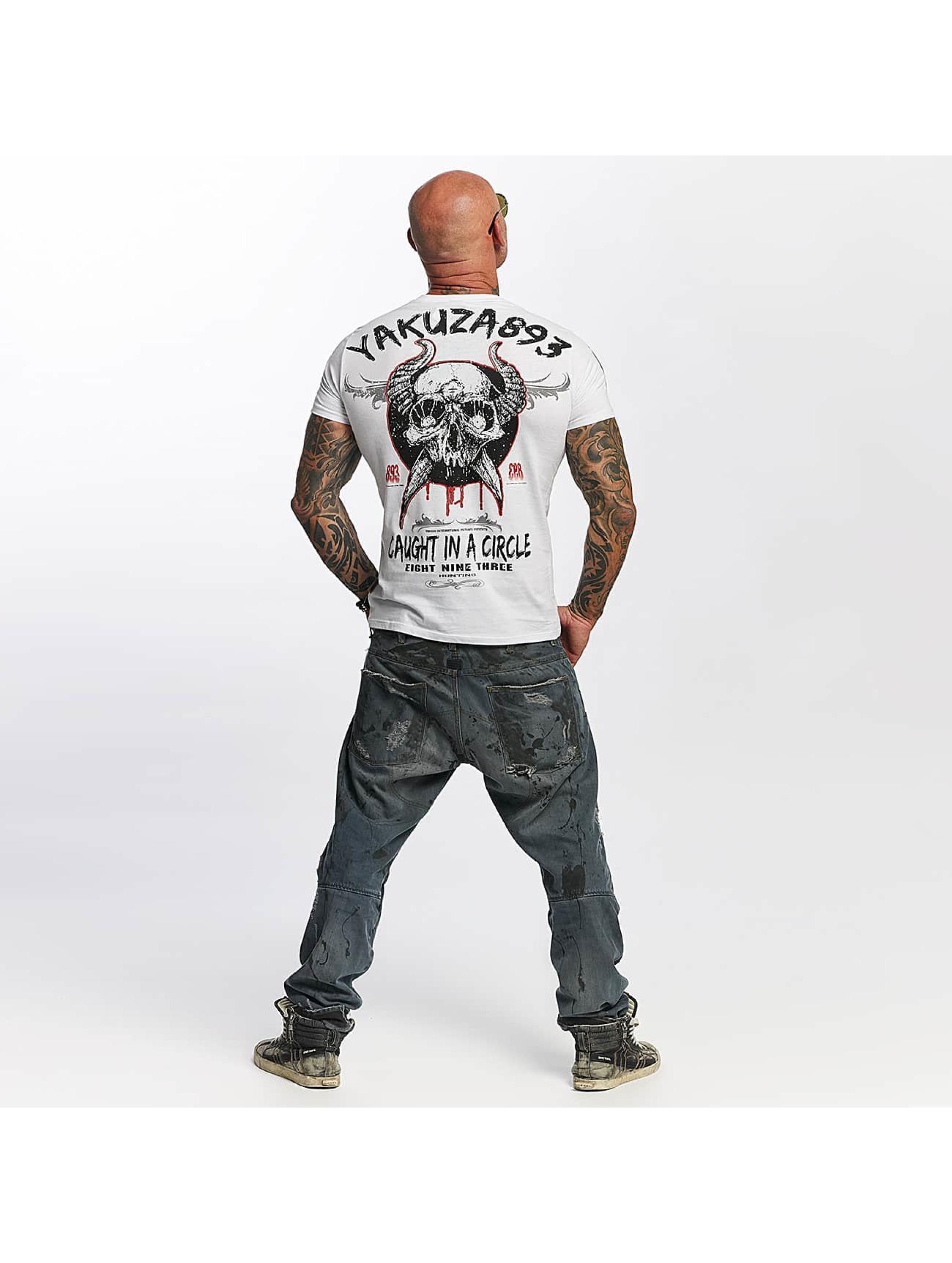 Yakuza T-Shirt Caught In A Circle weiß