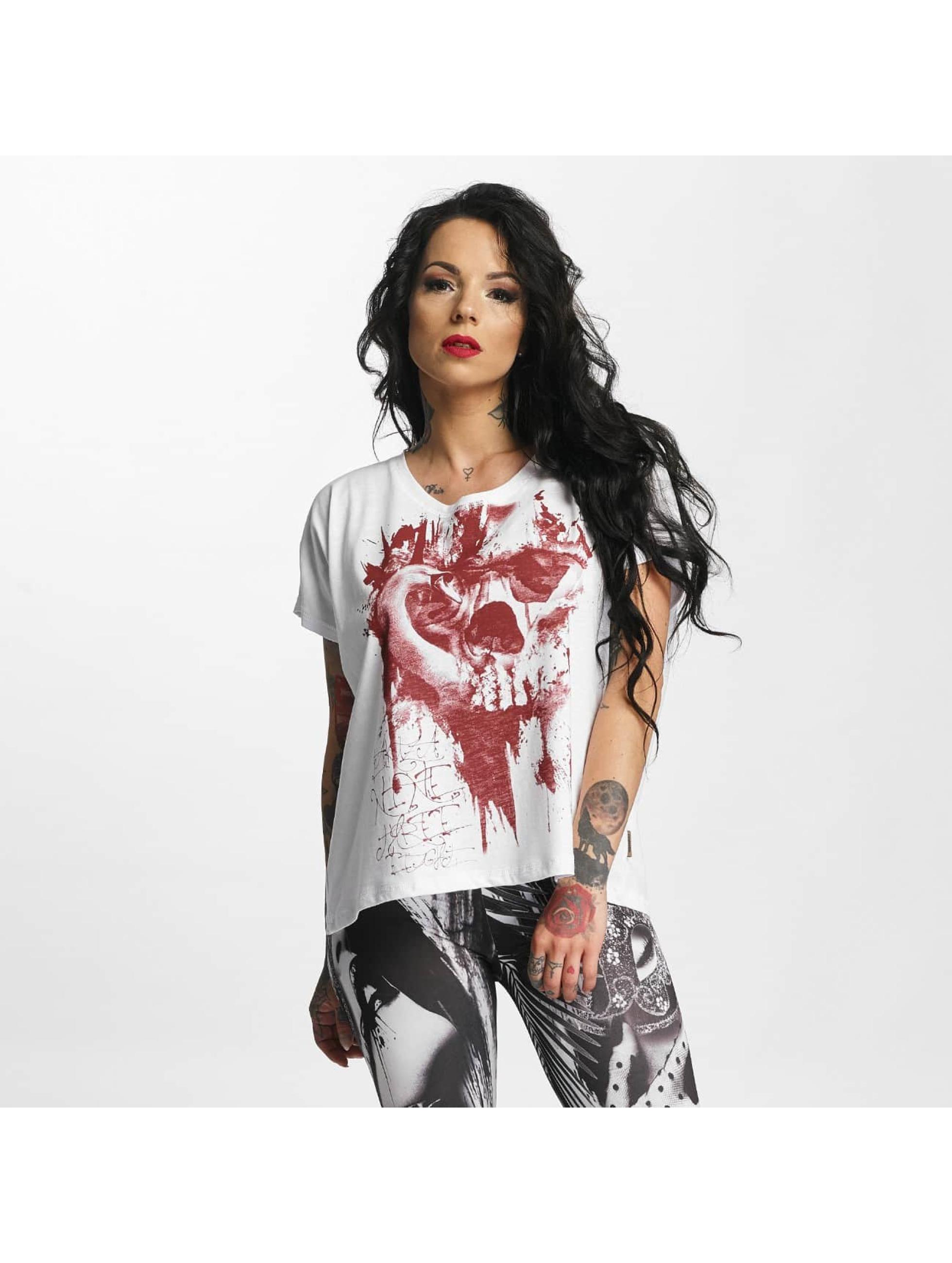 Yakuza T-Shirt Dead Swan Cropped white