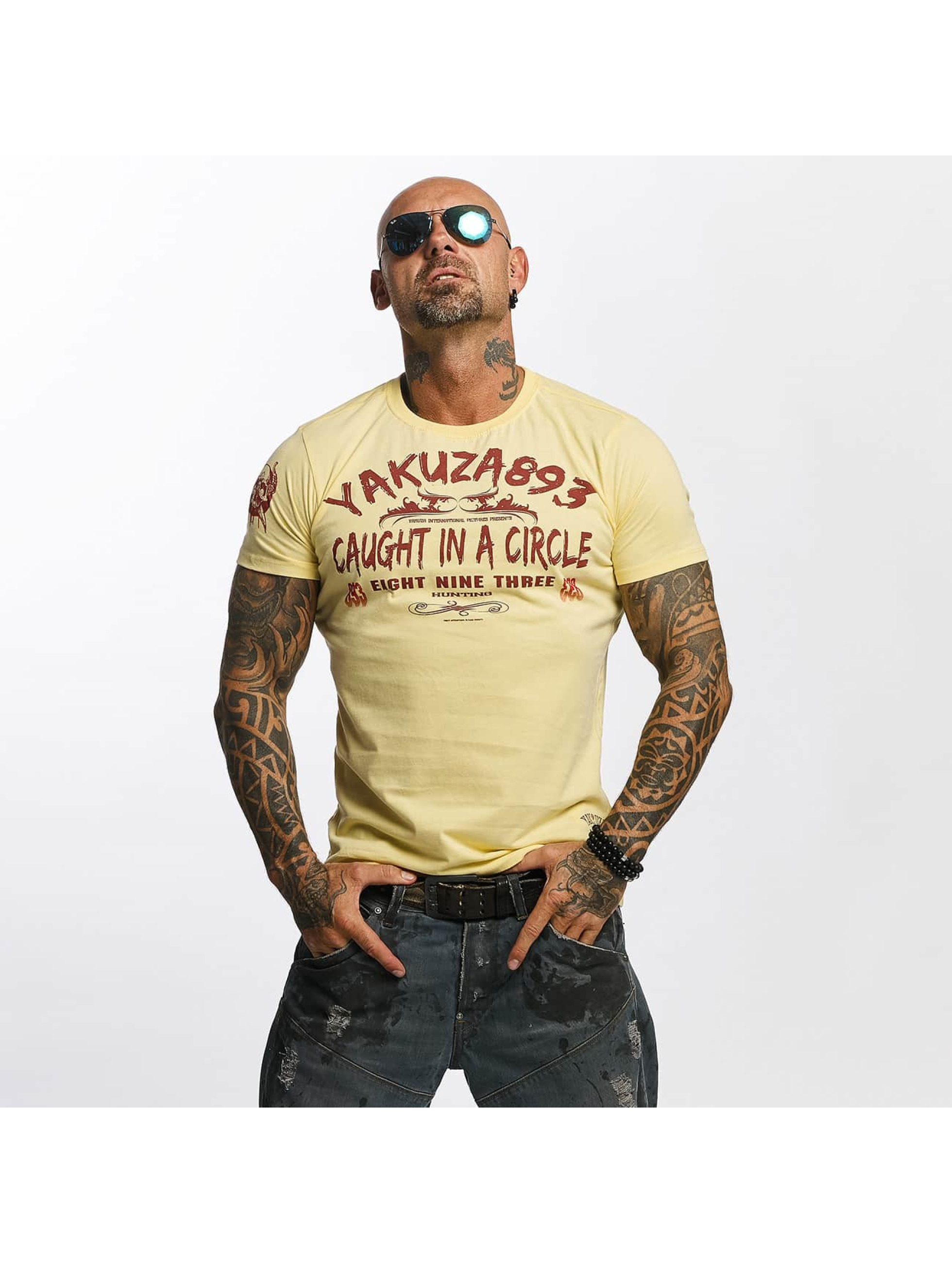 Yakuza T-Shirt Caught In A Circle yellow