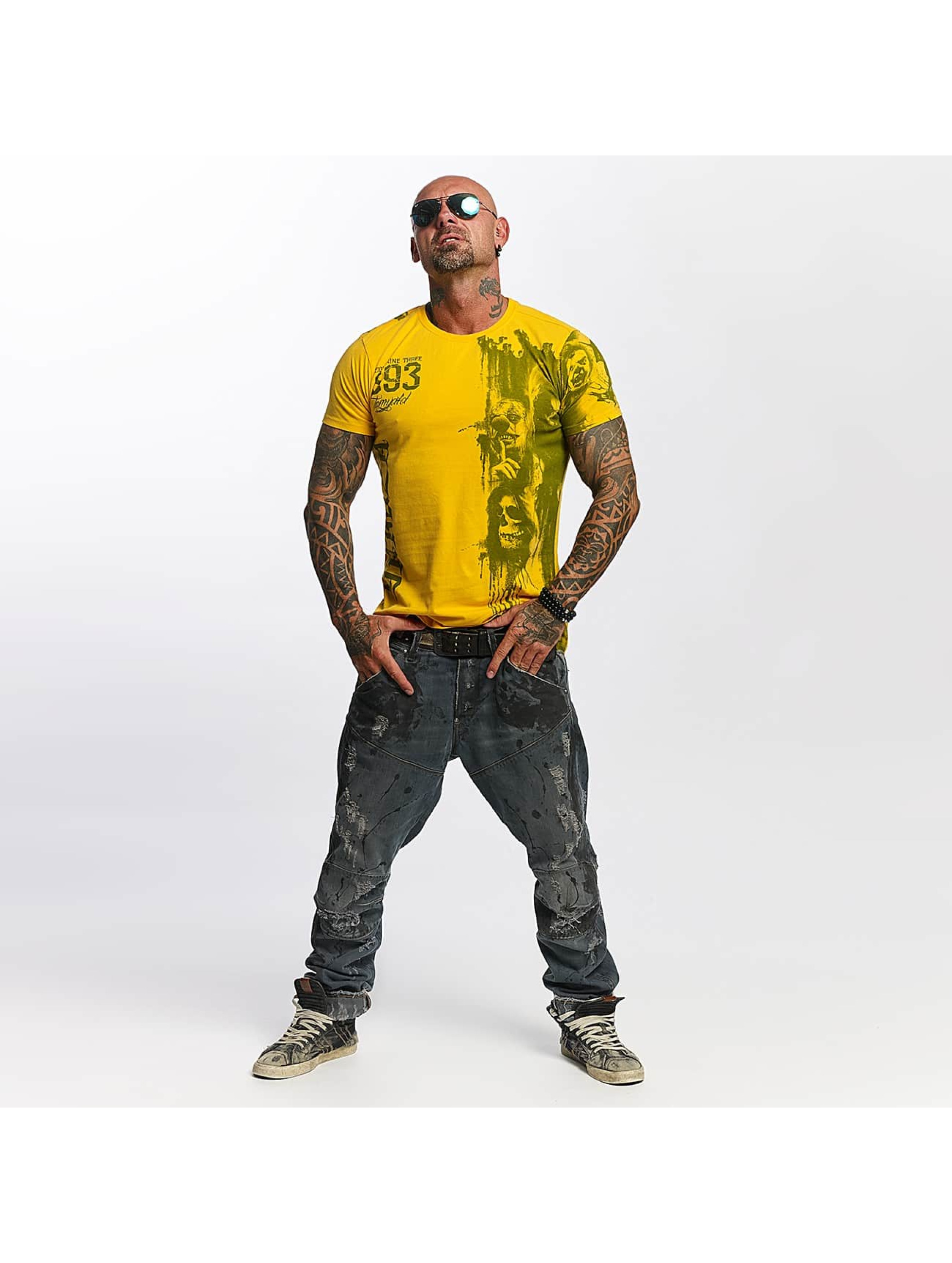 Yakuza T-Shirt Waiting Death yellow