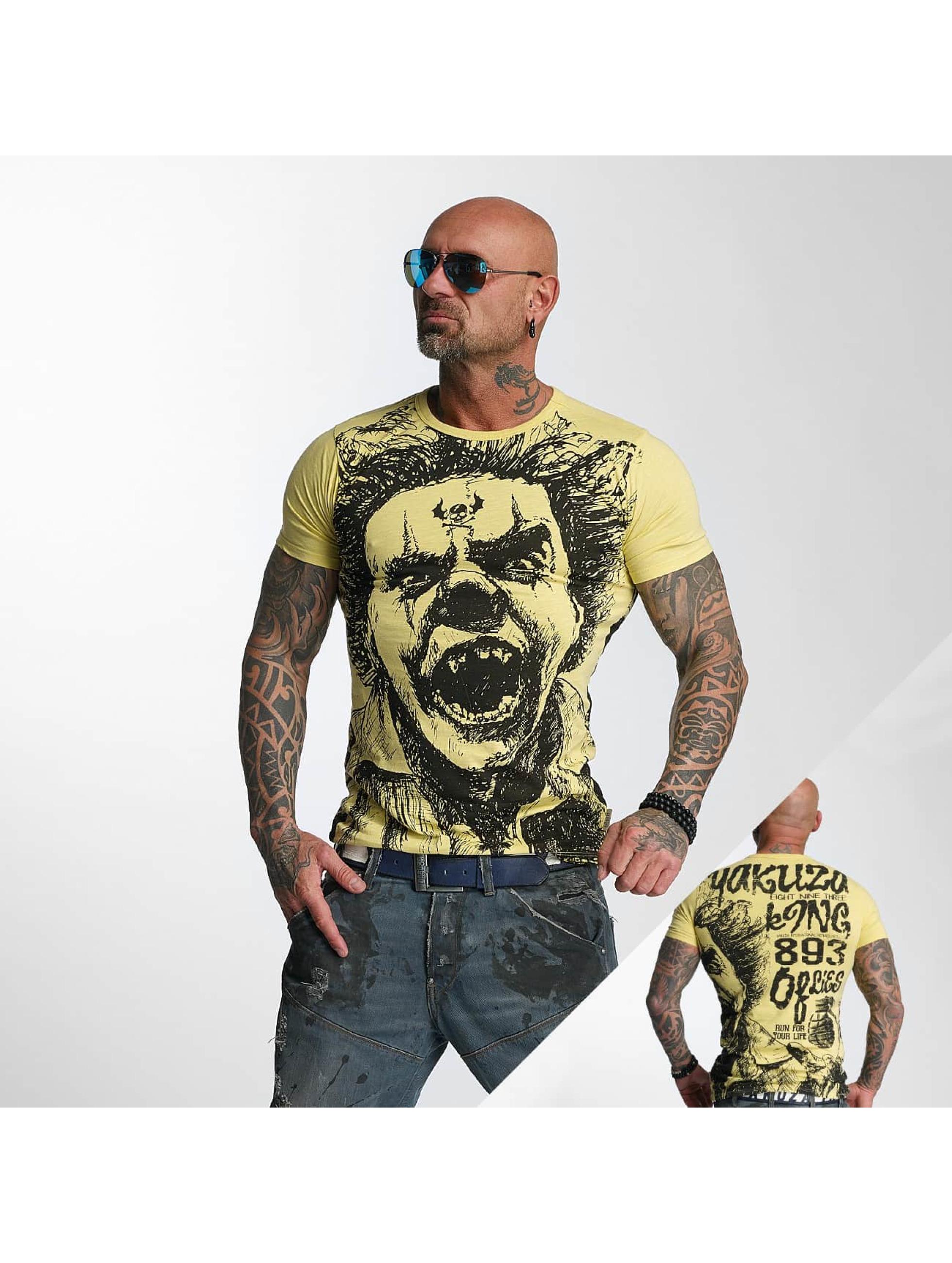 Yakuza T-Shirty King bezowy