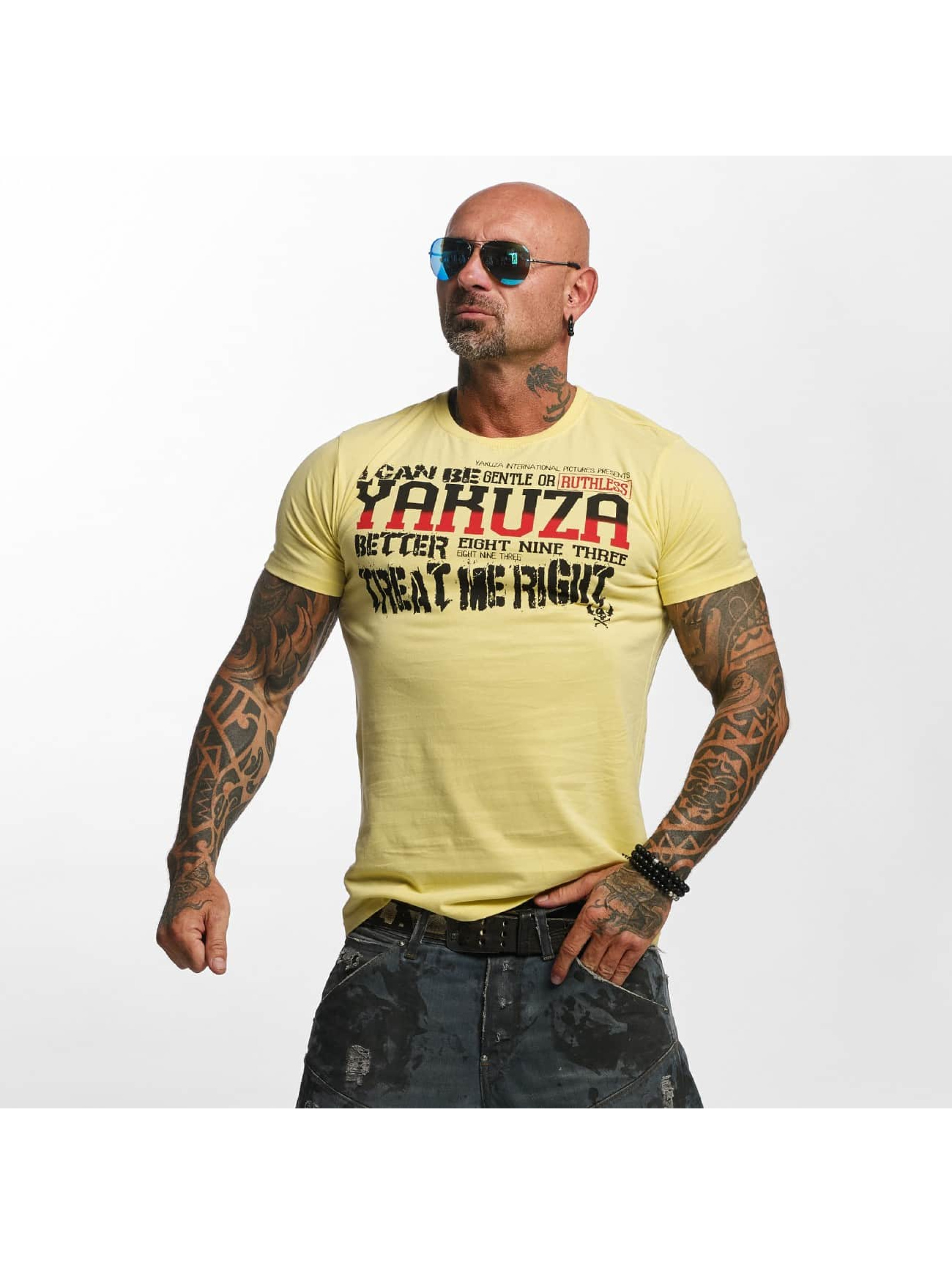 Yakuza T-Shirty Treat Me bezowy