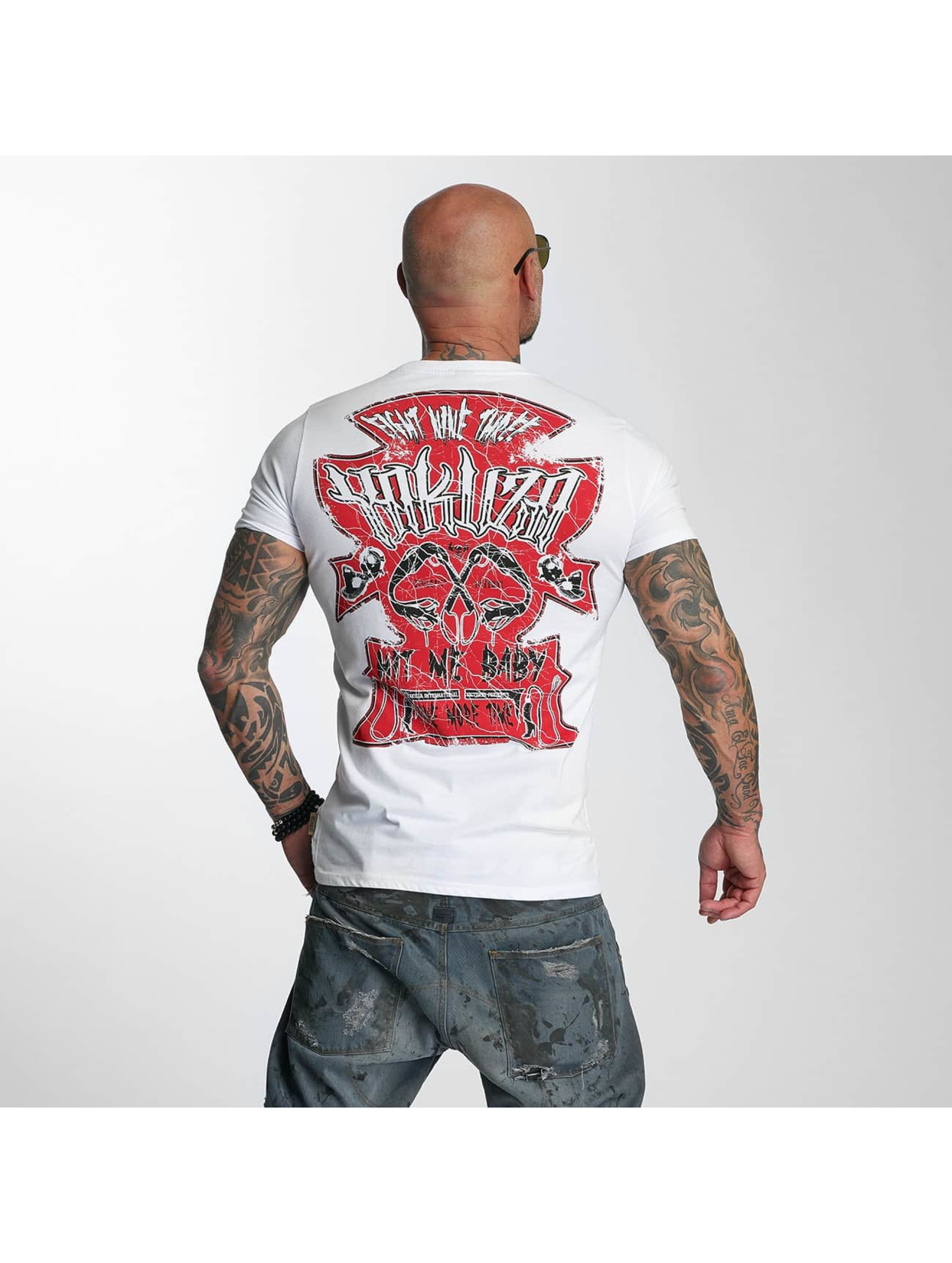 Yakuza T-Shirty Hit Me bialy
