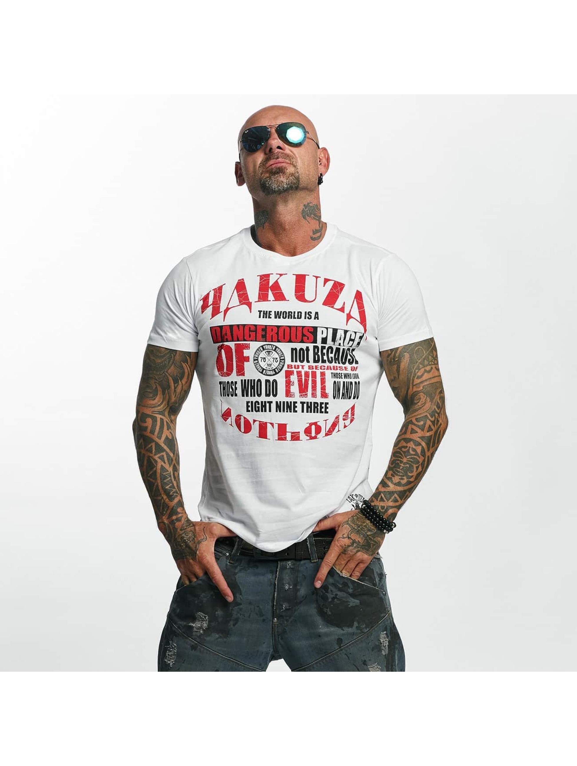 Yakuza T-Shirty Dangerous Place bialy