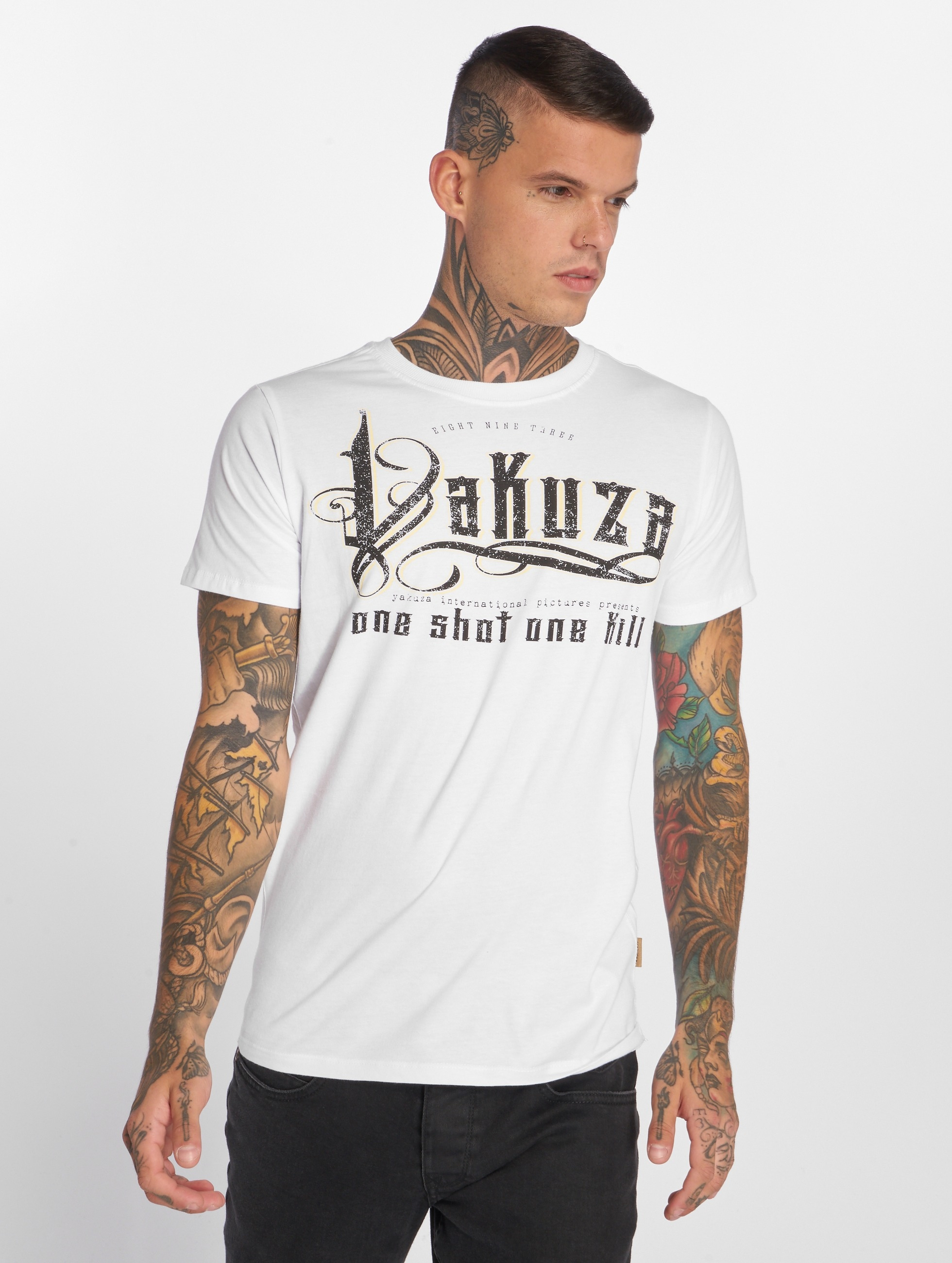 Yakuza T-Shirty One Shot bialy